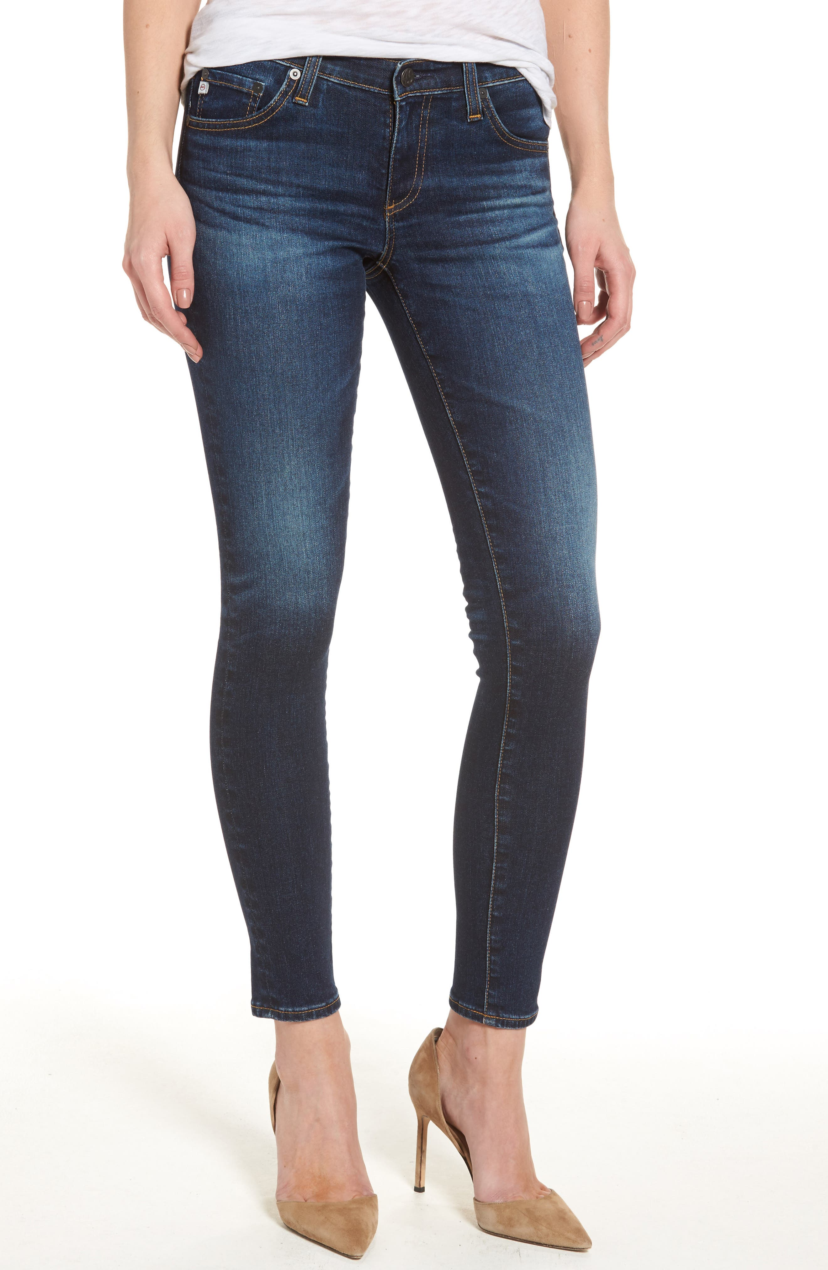 AG, The Legging Ankle Super Skinny Jeans, Main thumbnail 1, color, 04 YEARS RAPID