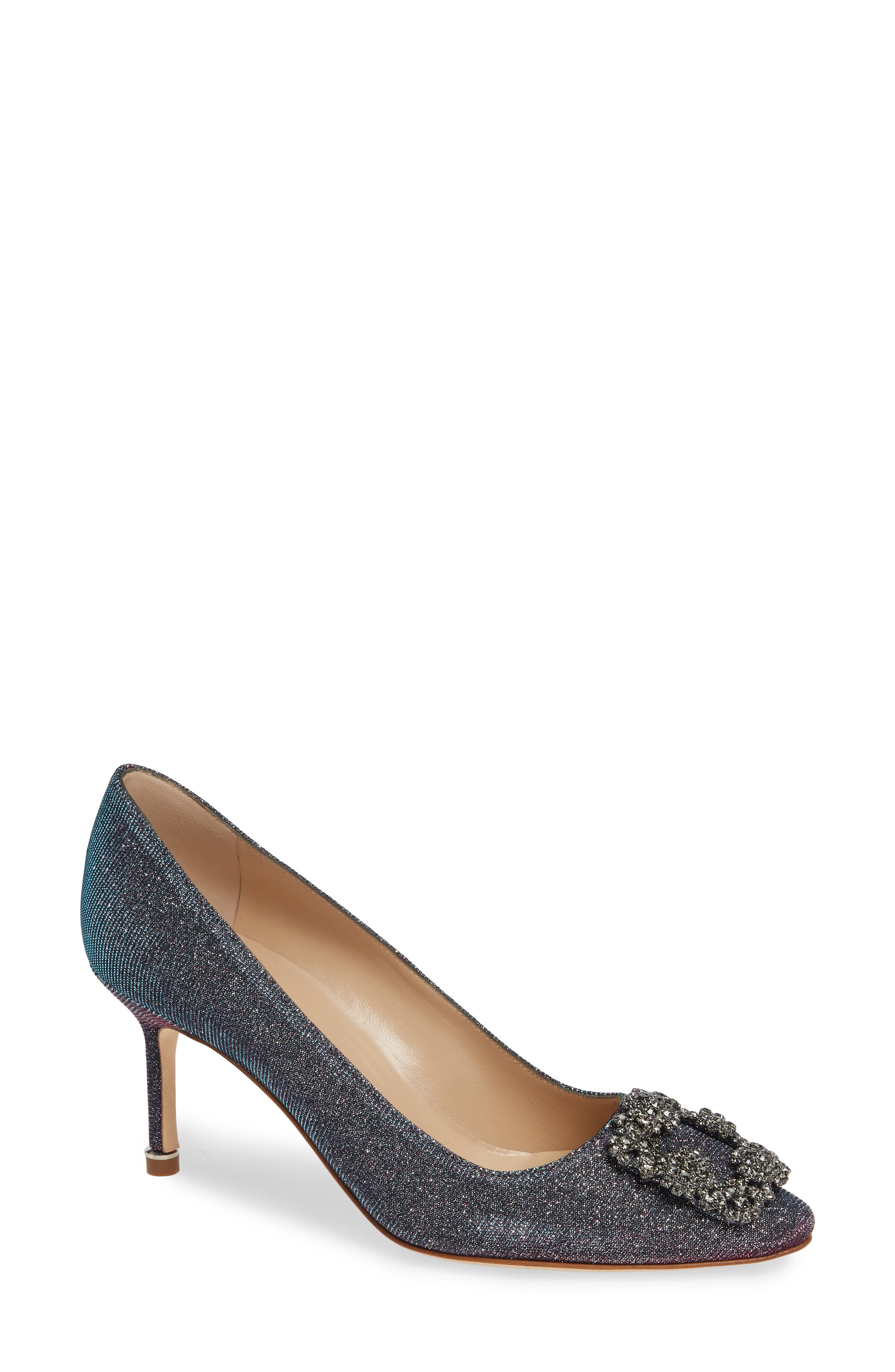 MANOLO BLAHNIK, Hangisi Pump, Main thumbnail 1, color, MIDNIGHT BLUE