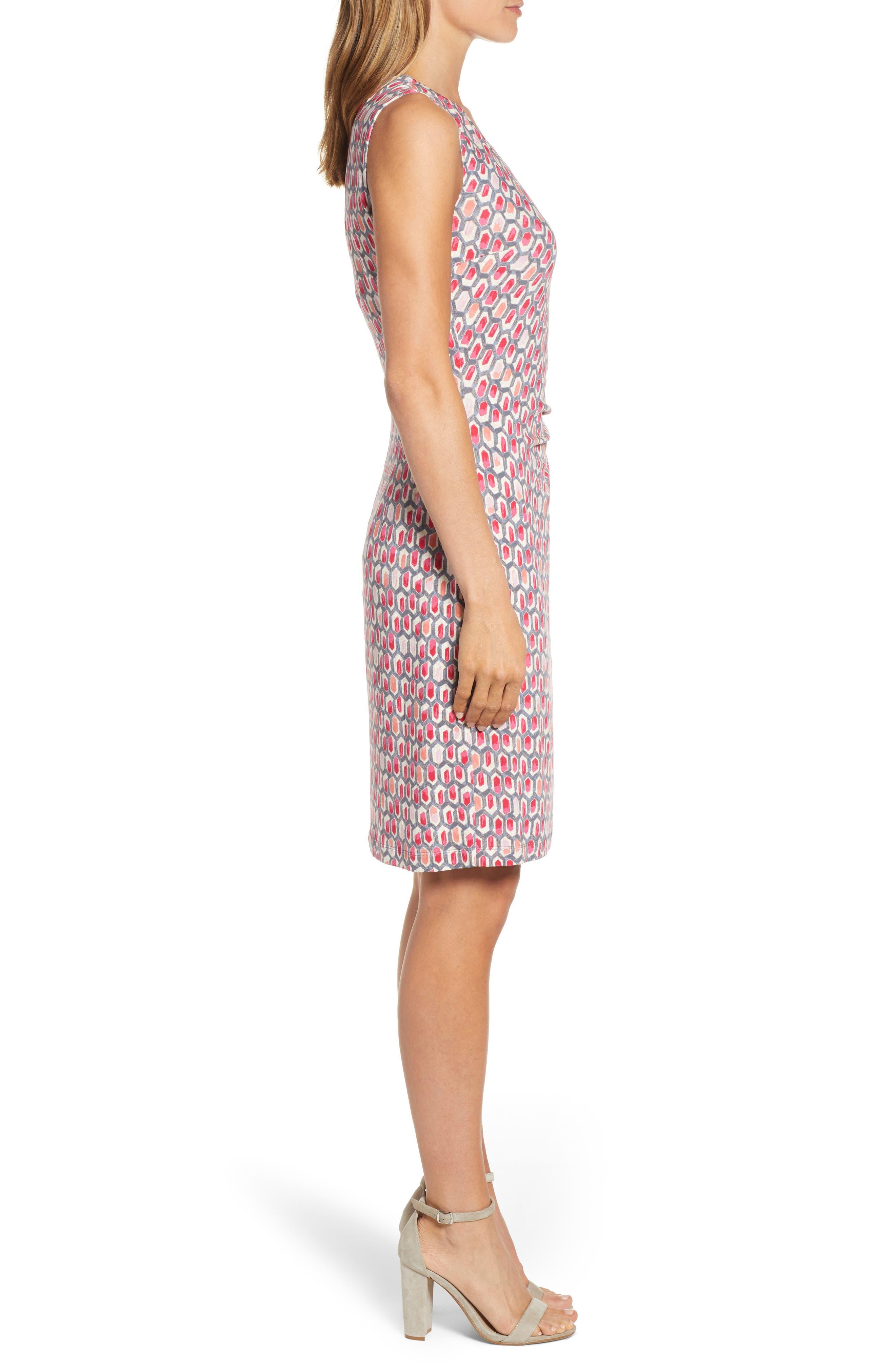 NIC+ZOE, Bright Stone Sheath Dress, Alternate thumbnail 4, color, MULTI
