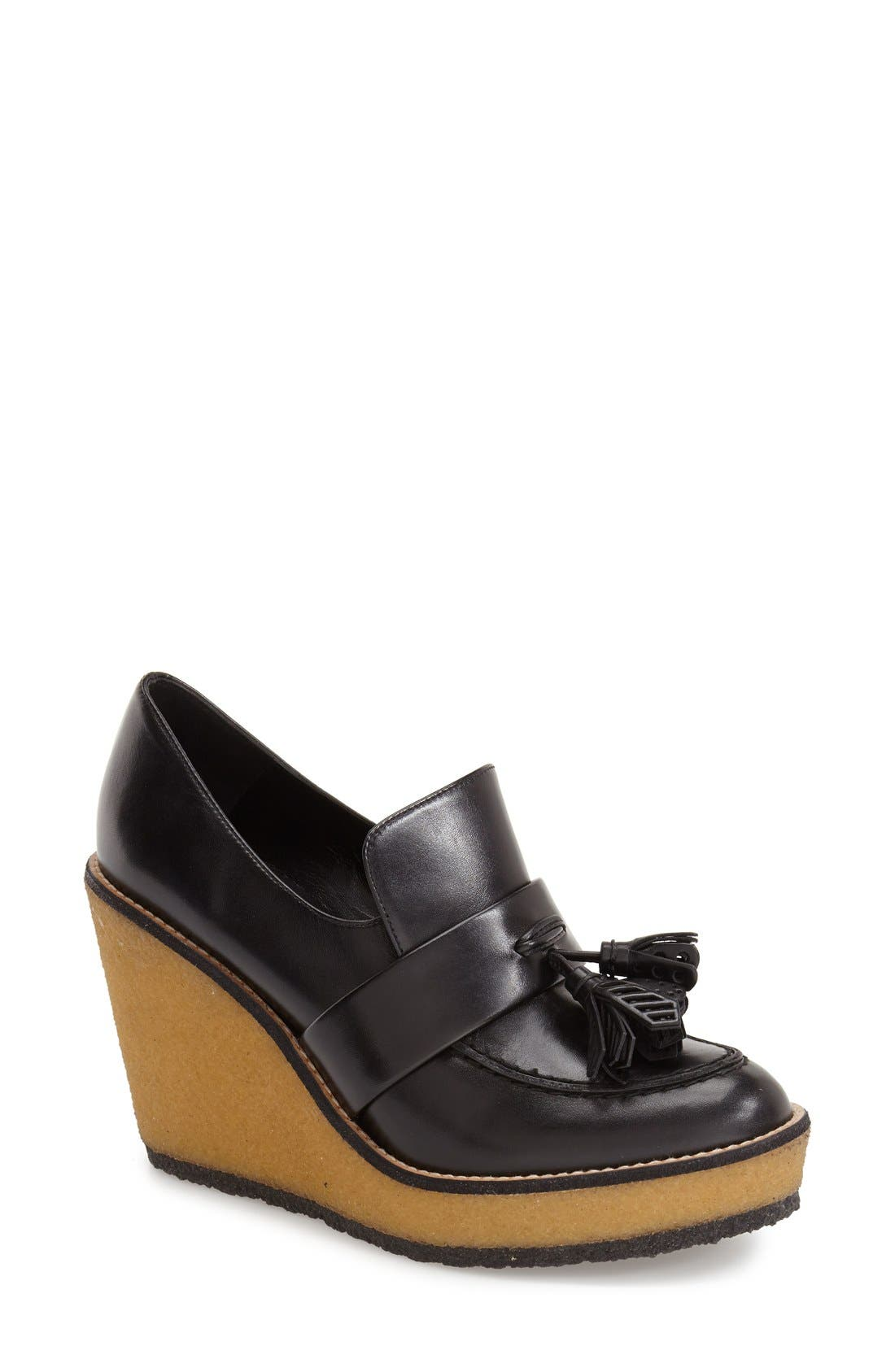 ROBERT CLERGERIE, 'Astrid' Wedge Loafer, Main thumbnail 1, color, 001