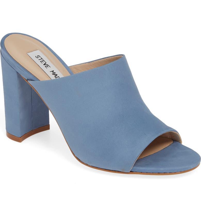 ae8b867164e Steve Madden Esmeralda Slide Sandal In Blue Nubuck