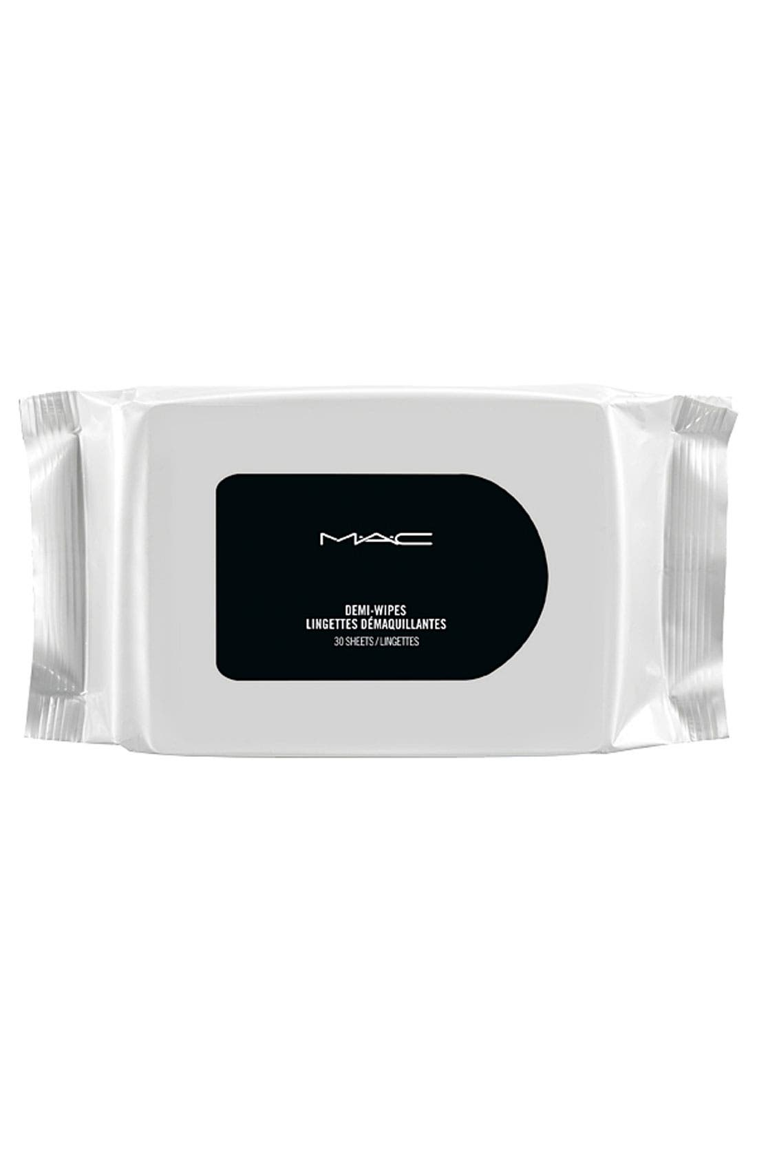 MAC COSMETICS MAC Mini MAC Demi Wipes Cleansing Towelettes, Main, color, NO COLOR