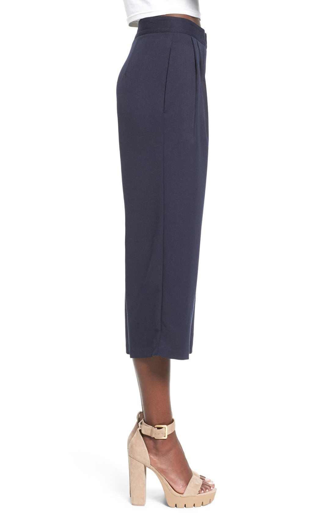 WAYF, Pleated Culottes, Alternate thumbnail 5, color, 410