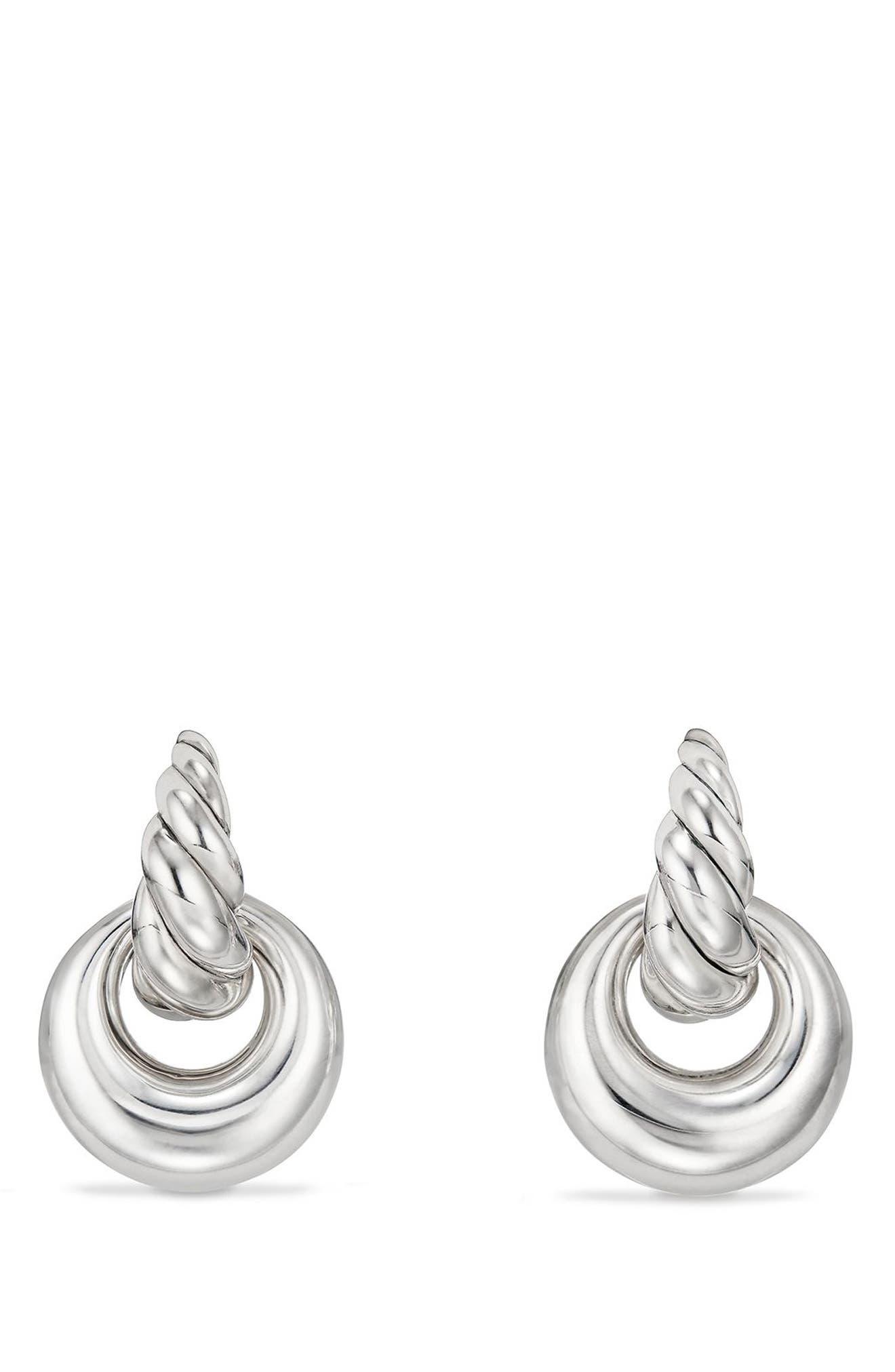 DAVID YURMAN Pure Form Drop Earrings, Main, color, SILVER