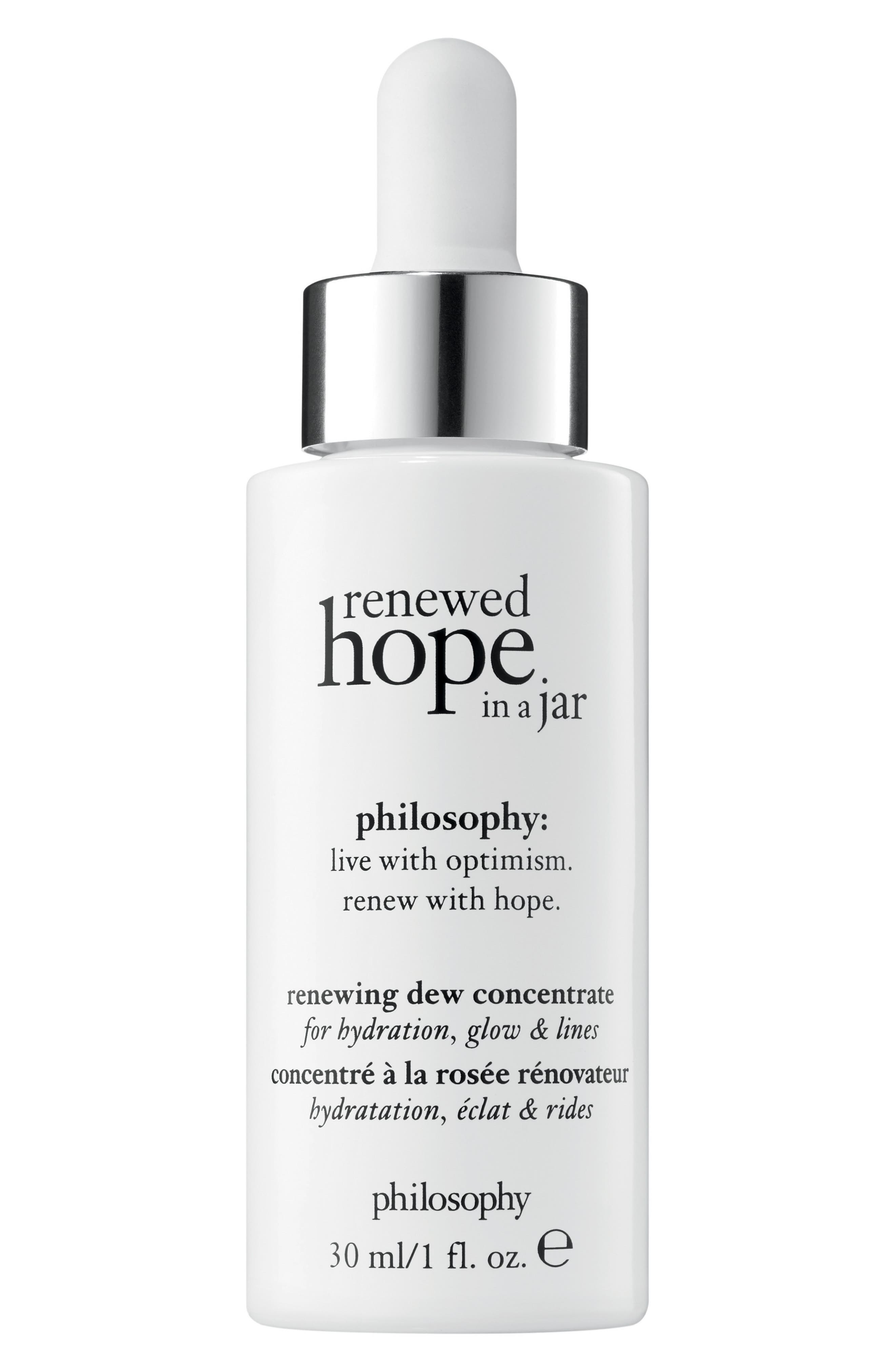 PHILOSOPHY, renewed hope in a jar renewing dew concentrate, Main thumbnail 1, color, NO COLOR