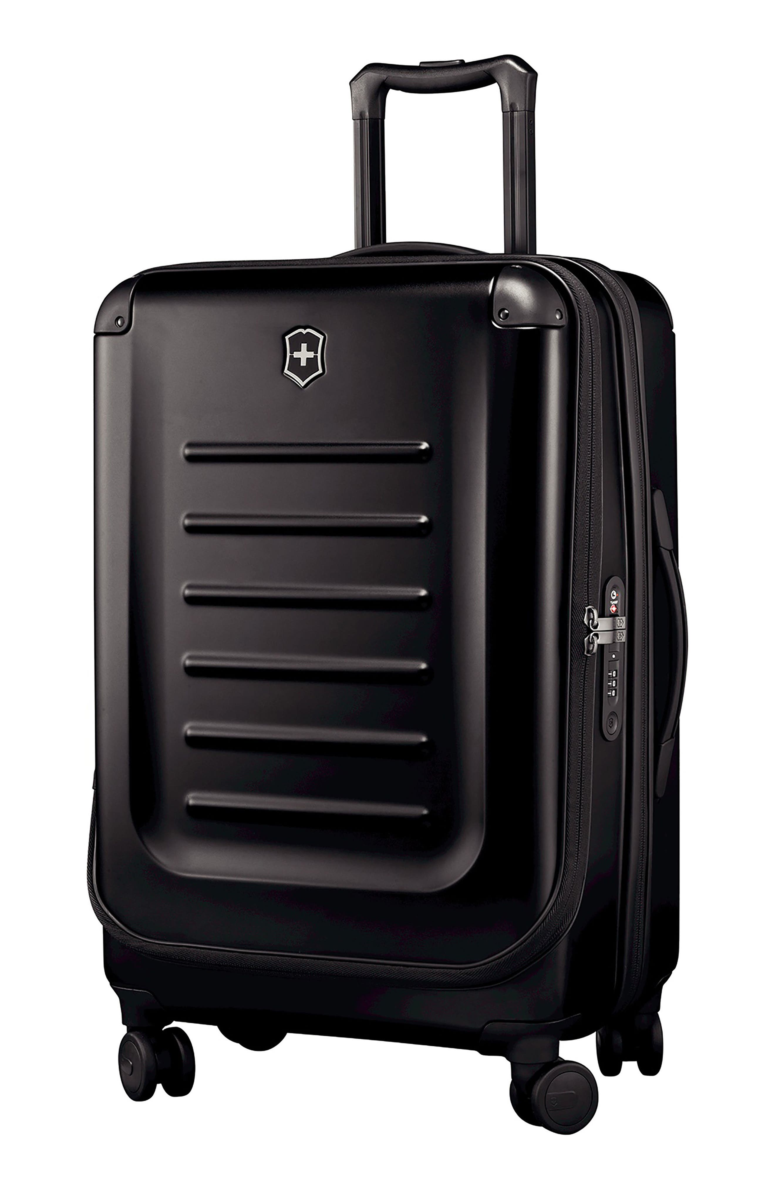 VICTORINOX SWISS ARMY<SUP>®</SUP>, Spectra 2.0 Hard Sided Rolling 27-Inch Travel Suitcase, Main thumbnail 1, color, BLACK