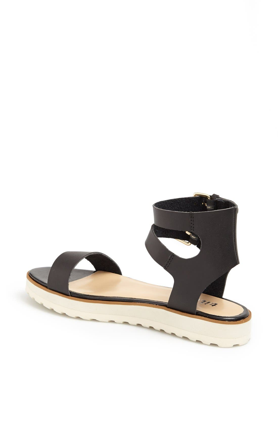 TILDON, 'Manda' Platform Ankle Strap Sandal, Alternate thumbnail 2, color, 002