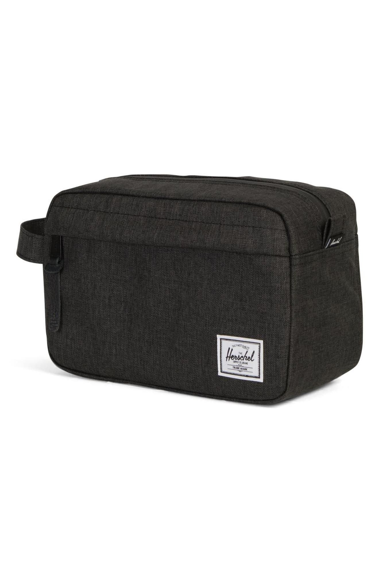 HERSCHEL SUPPLY CO., Chapter Dopp Kit, Alternate thumbnail 3, color, BLACK CROSSHATCH