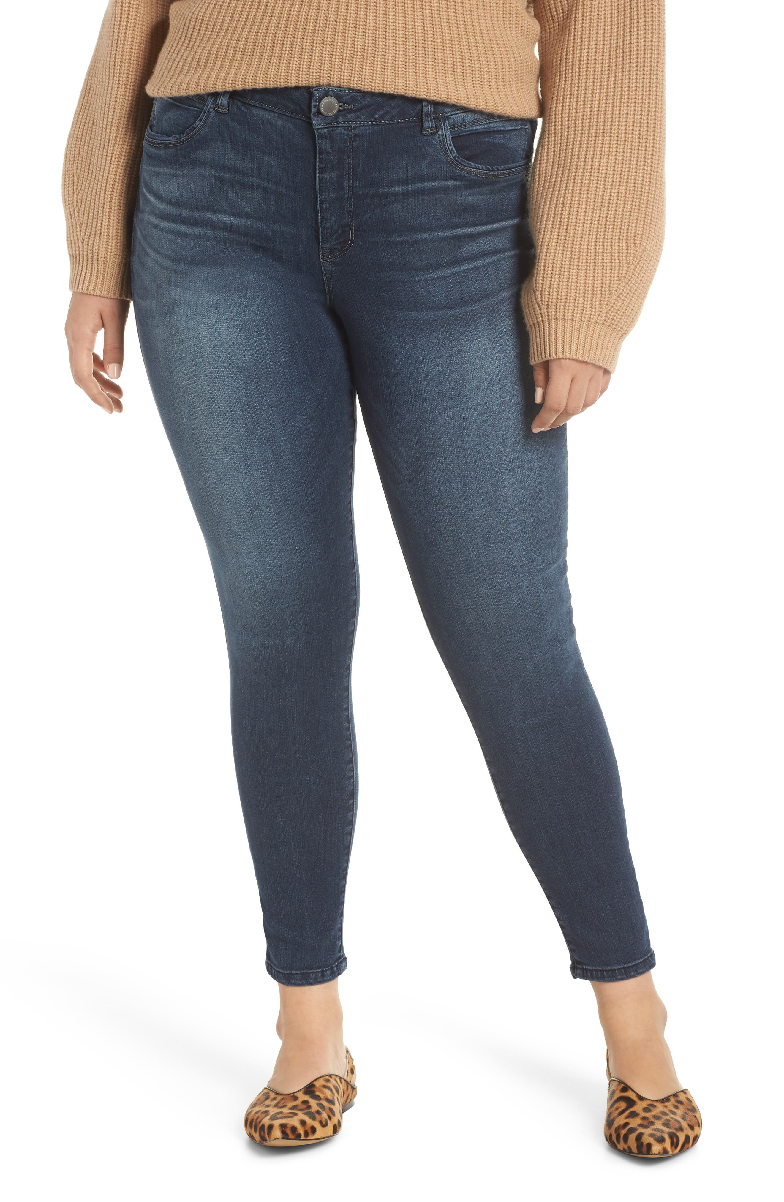 WIT & WISDOM, Contemporary Skinny Jeans, Alternate thumbnail 2, color, 402