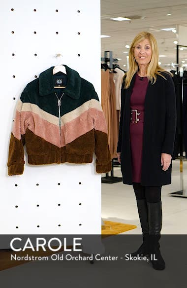 Urban Outfitters Chevron Teddy Coat, sales video thumbnail