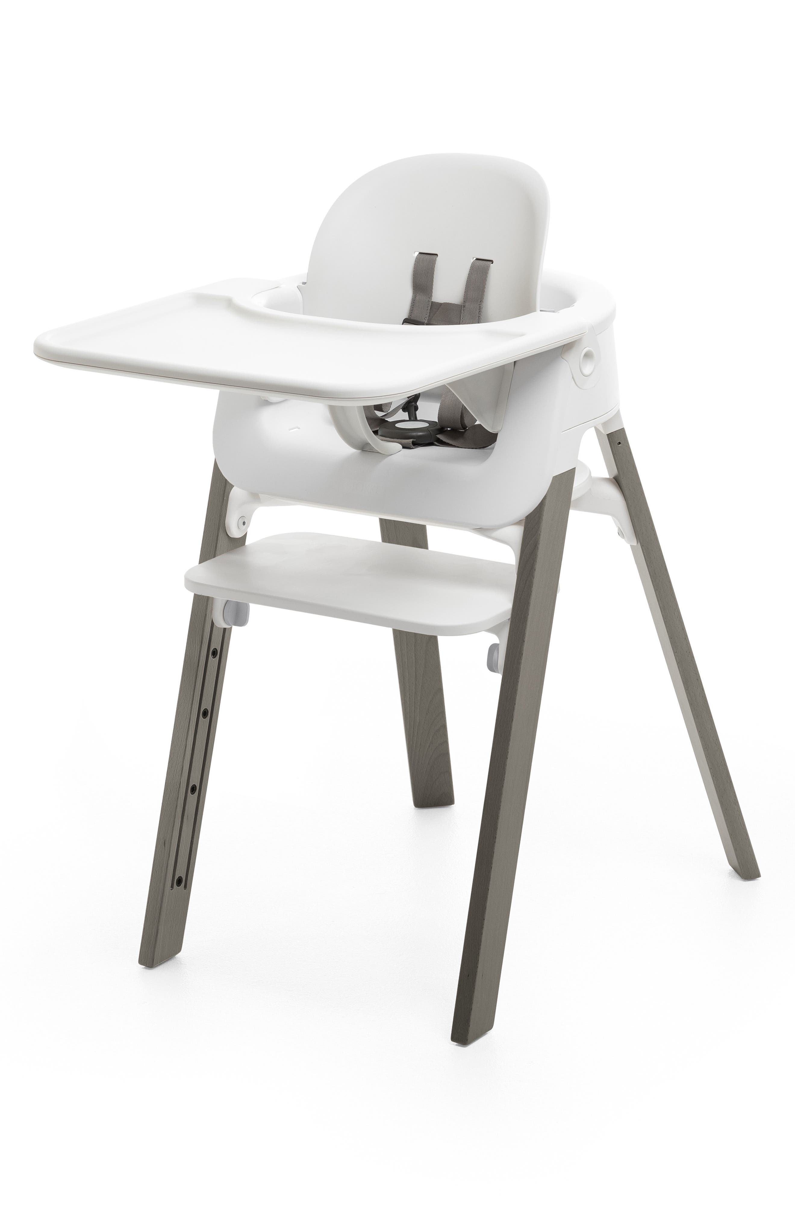 STOKKE, Steps<sup>™</sup> High Chair & Tray, Main thumbnail 1, color, GREY