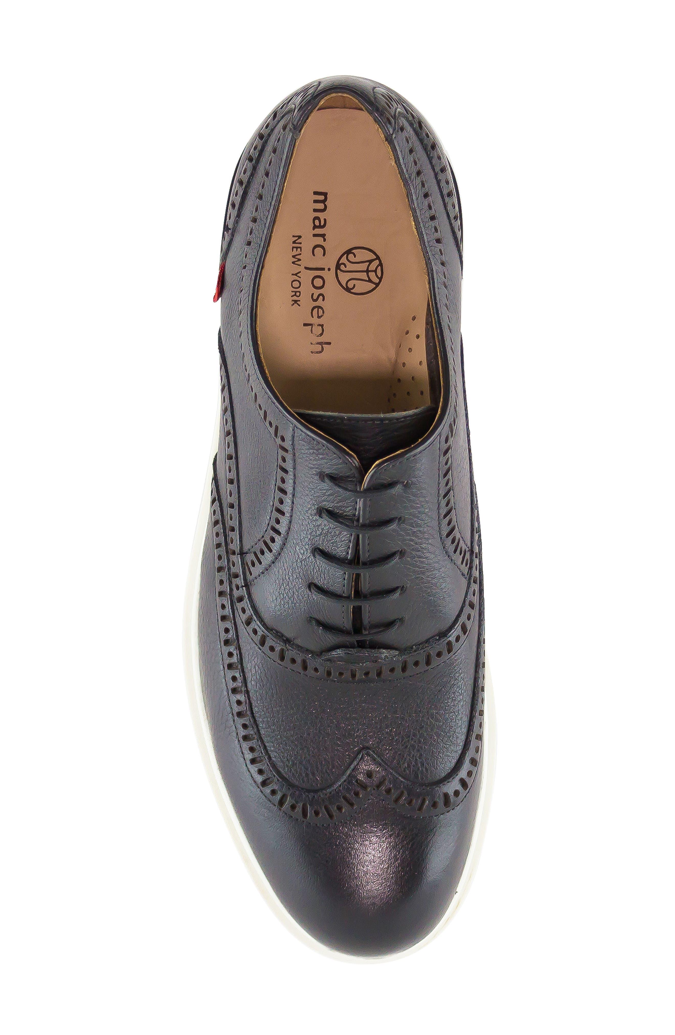 MARC JOSEPH NEW YORK, 5th Ave Wingtip Sneaker, Alternate thumbnail 5, color, 001