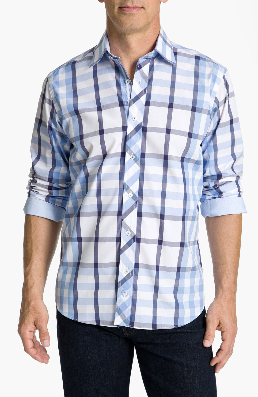 BUGATCHI, Uomo Classic Fit Sport Shirt, Main thumbnail 1, color, 459