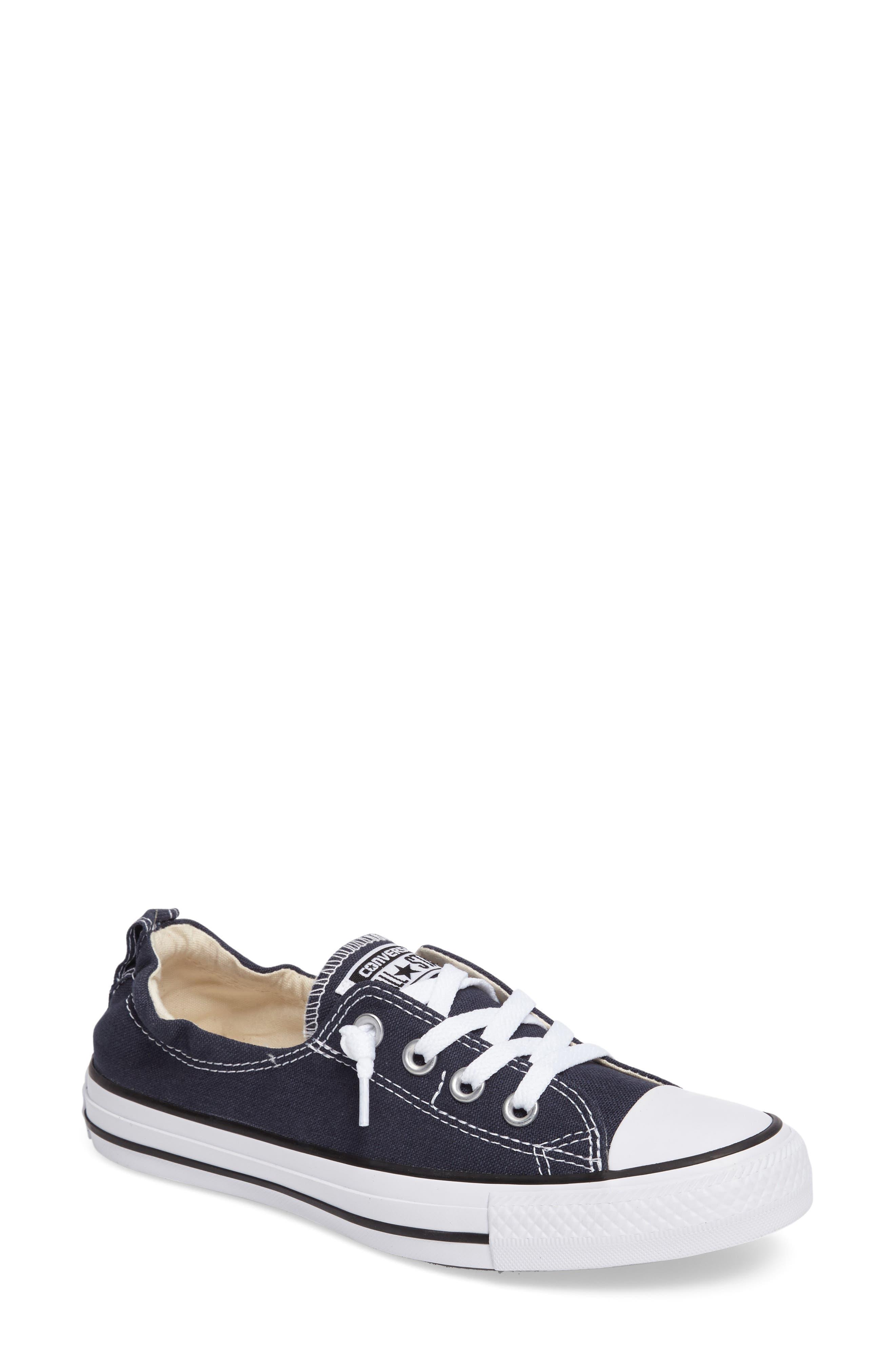 CONVERSE Chuck Taylor<sup>®</sup> 'Shoreline' Sneaker, Main, color, NAVY