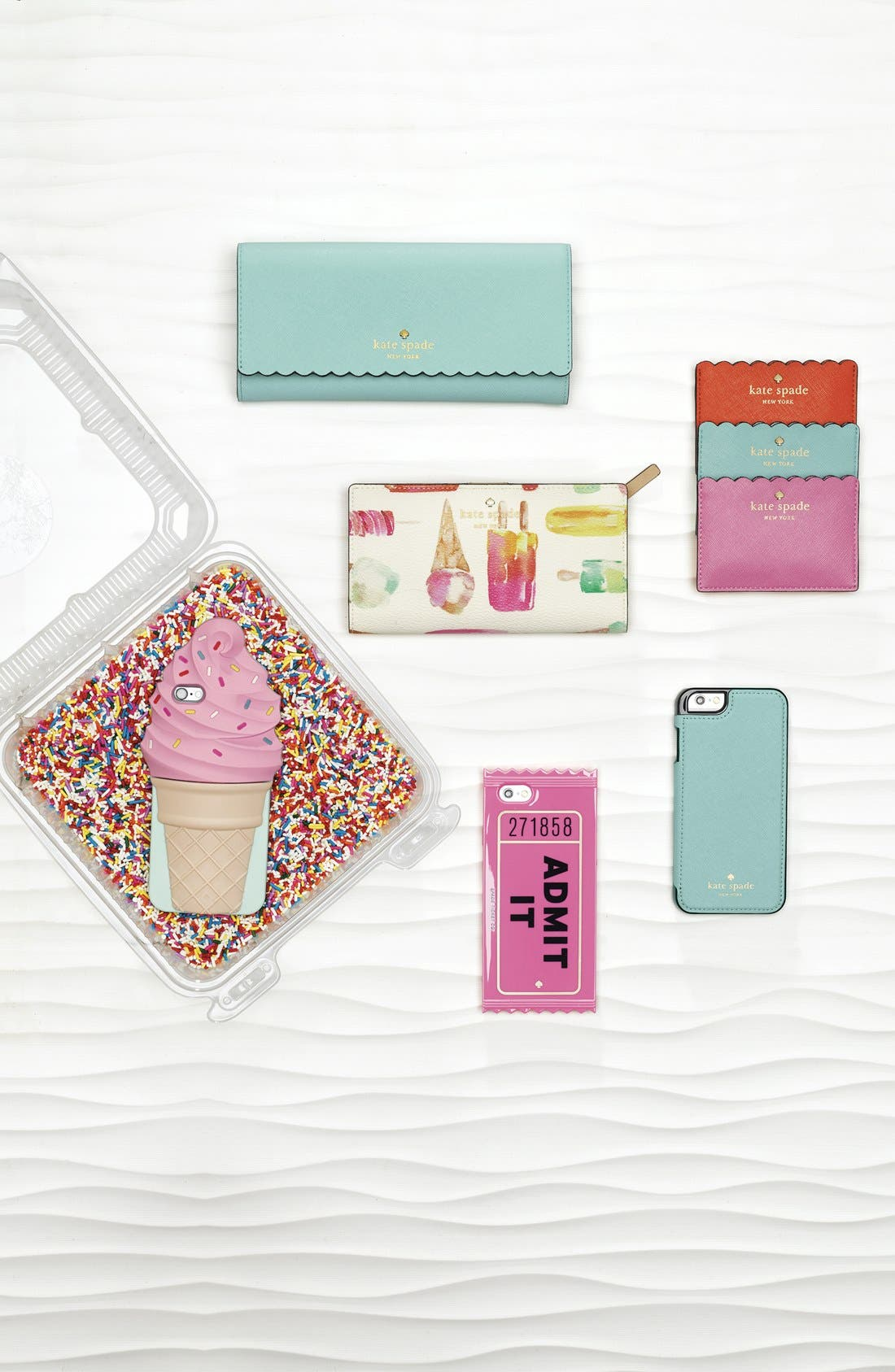KATE SPADE NEW YORK, 'ice cream' iPhone 6 & 6s case, Alternate thumbnail 2, color, 650
