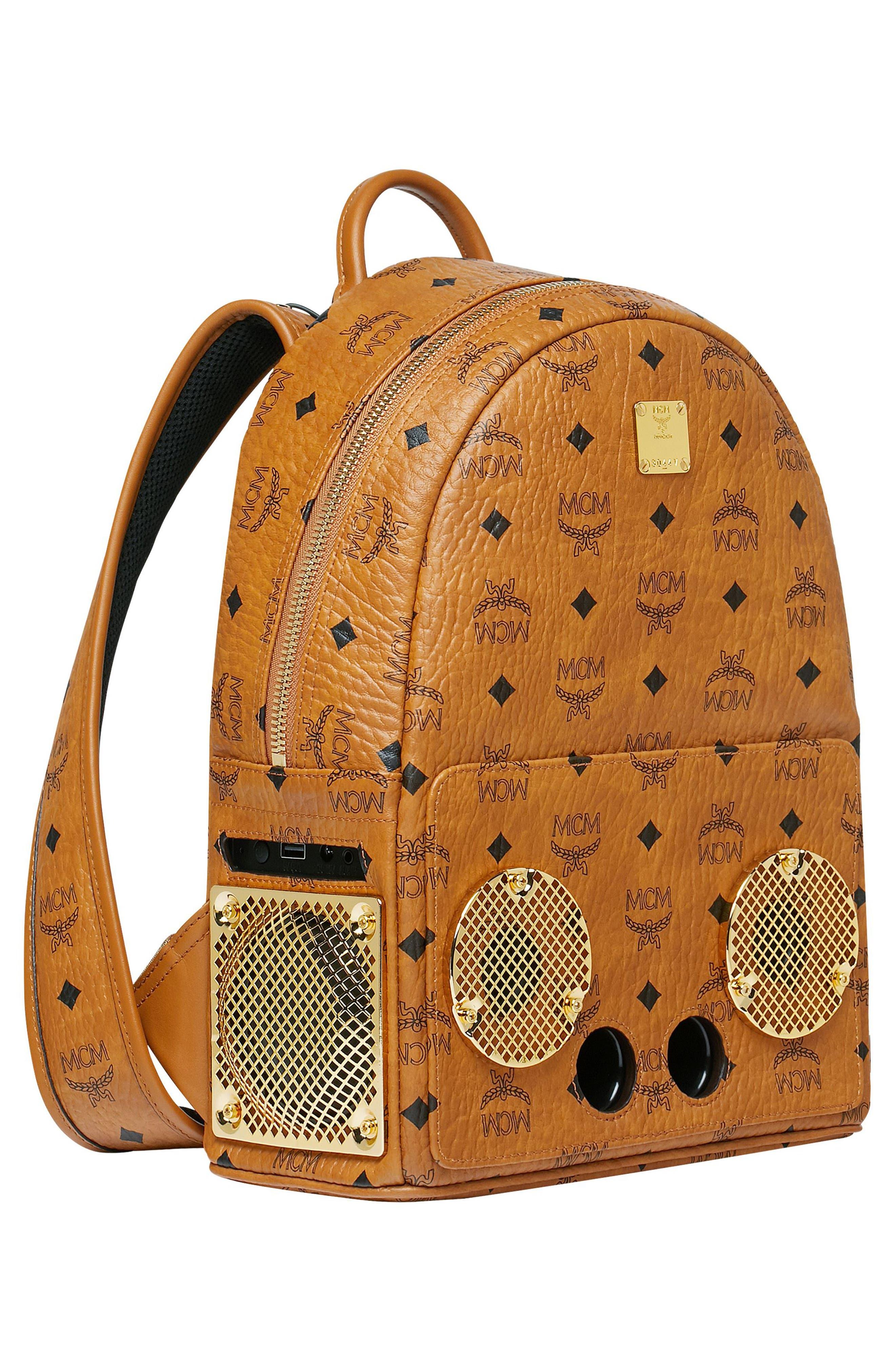 MCM, x Wizpak Visetos Sound System Backpack, Alternate thumbnail 6, color, 200