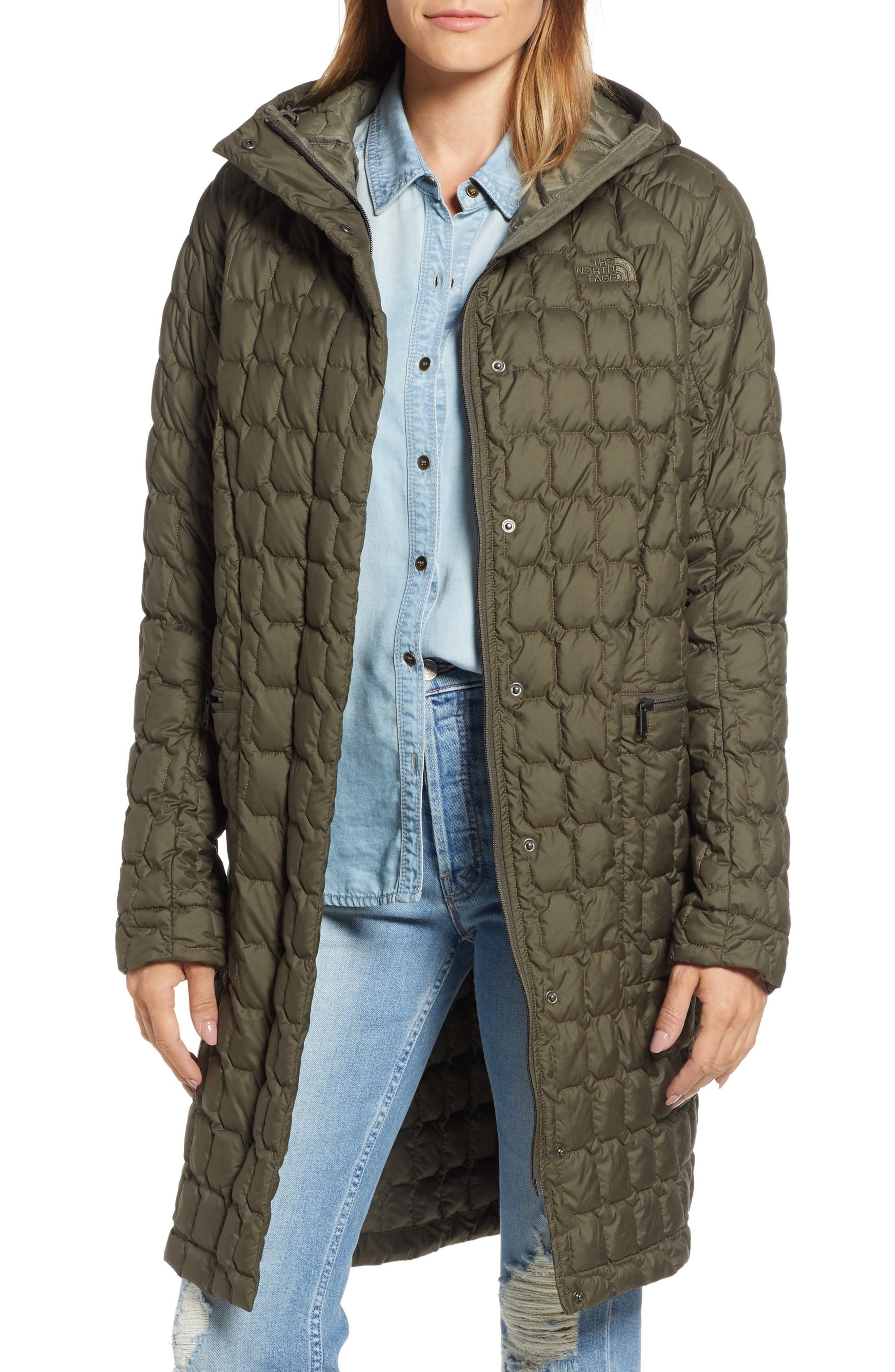 THE NORTH FACE, Thermoball<sup>™</sup> Water Resistant Duster Jacket, Main thumbnail 1, color, 301