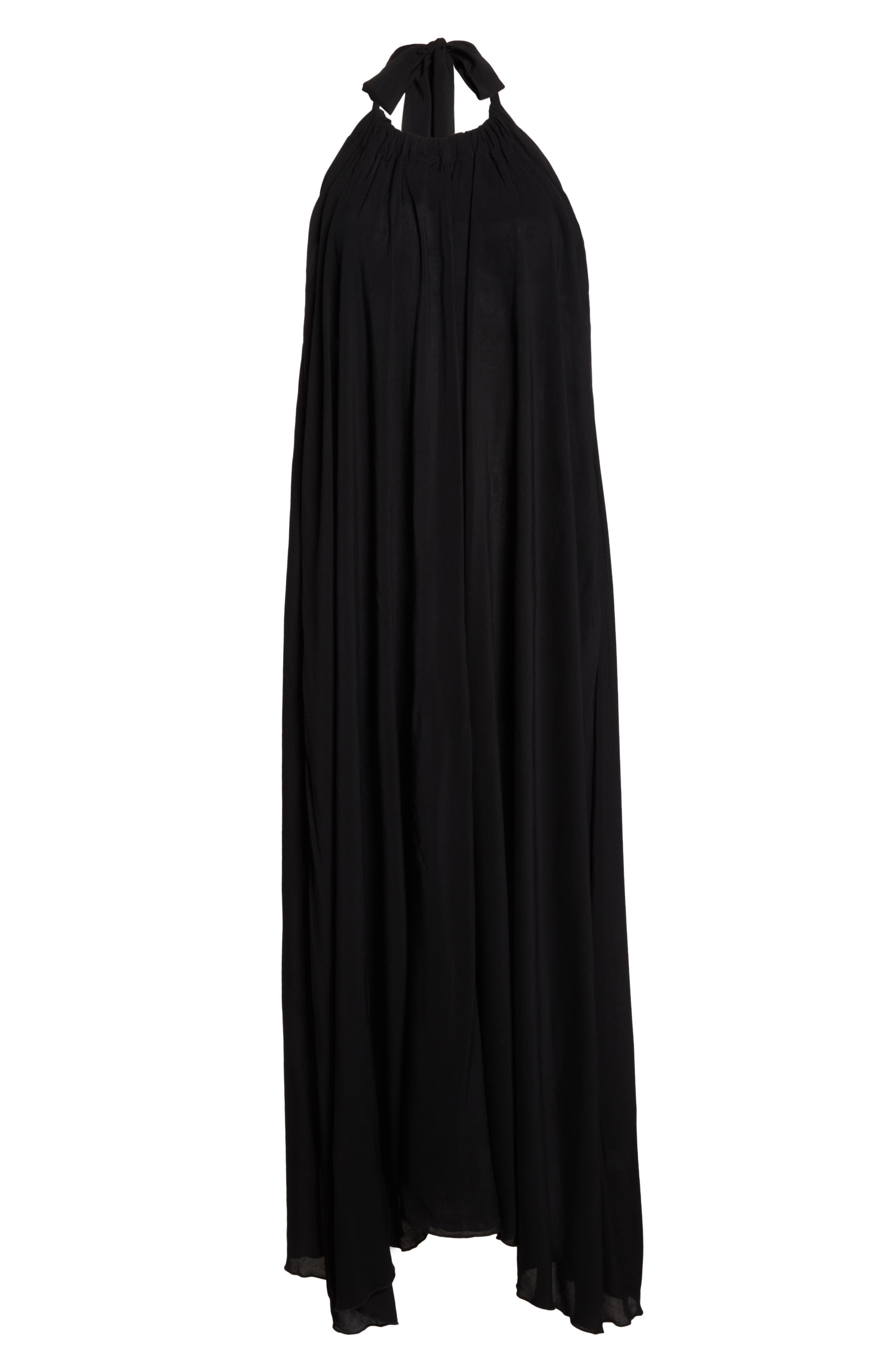 ELAN, Cover-Up Maxi Dress, Alternate thumbnail 7, color, BLACK