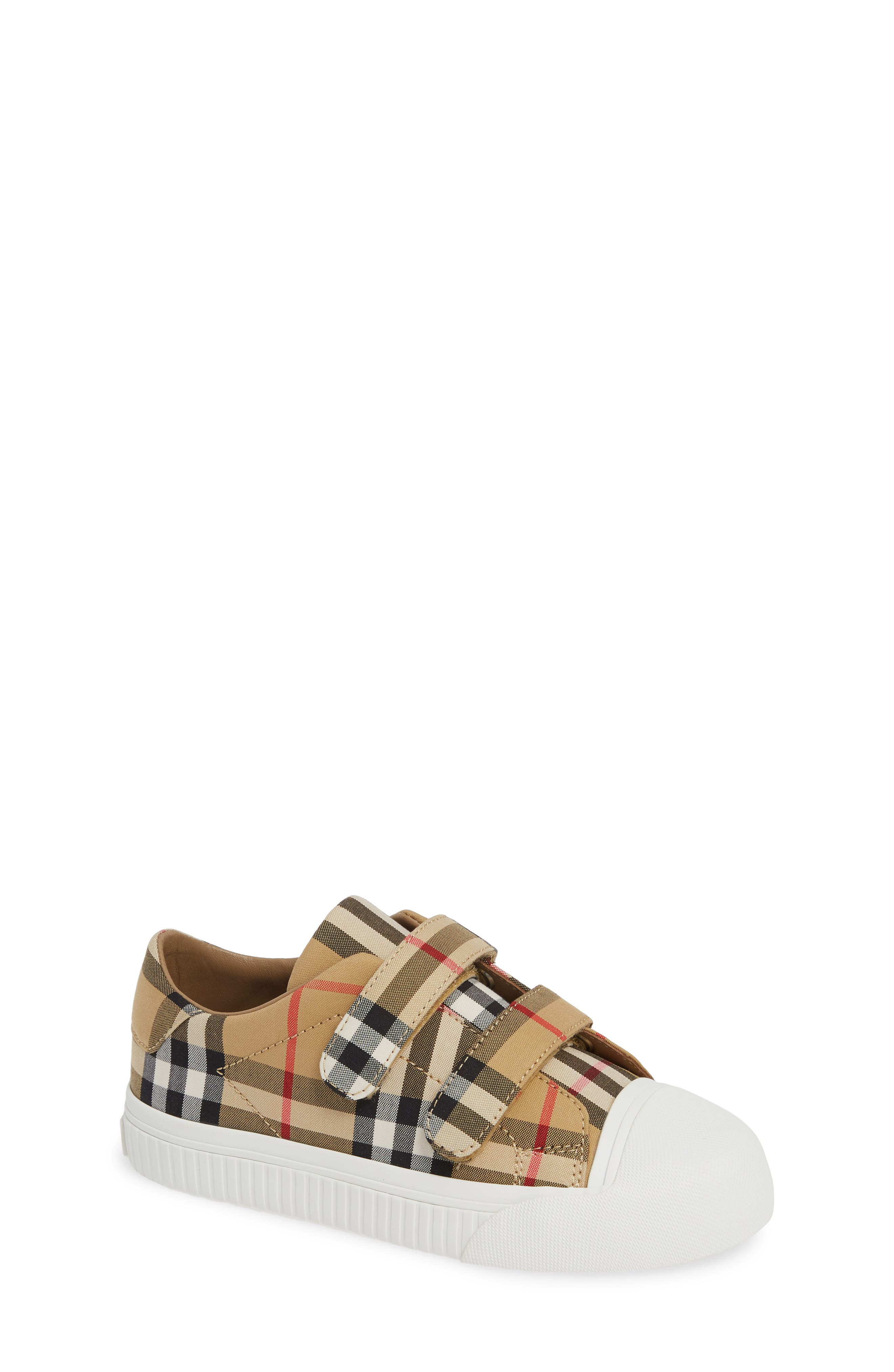 BURBERRY, Belside Sneaker, Main thumbnail 1, color, ANTIQUE YELLOW-OPTIC WHITE