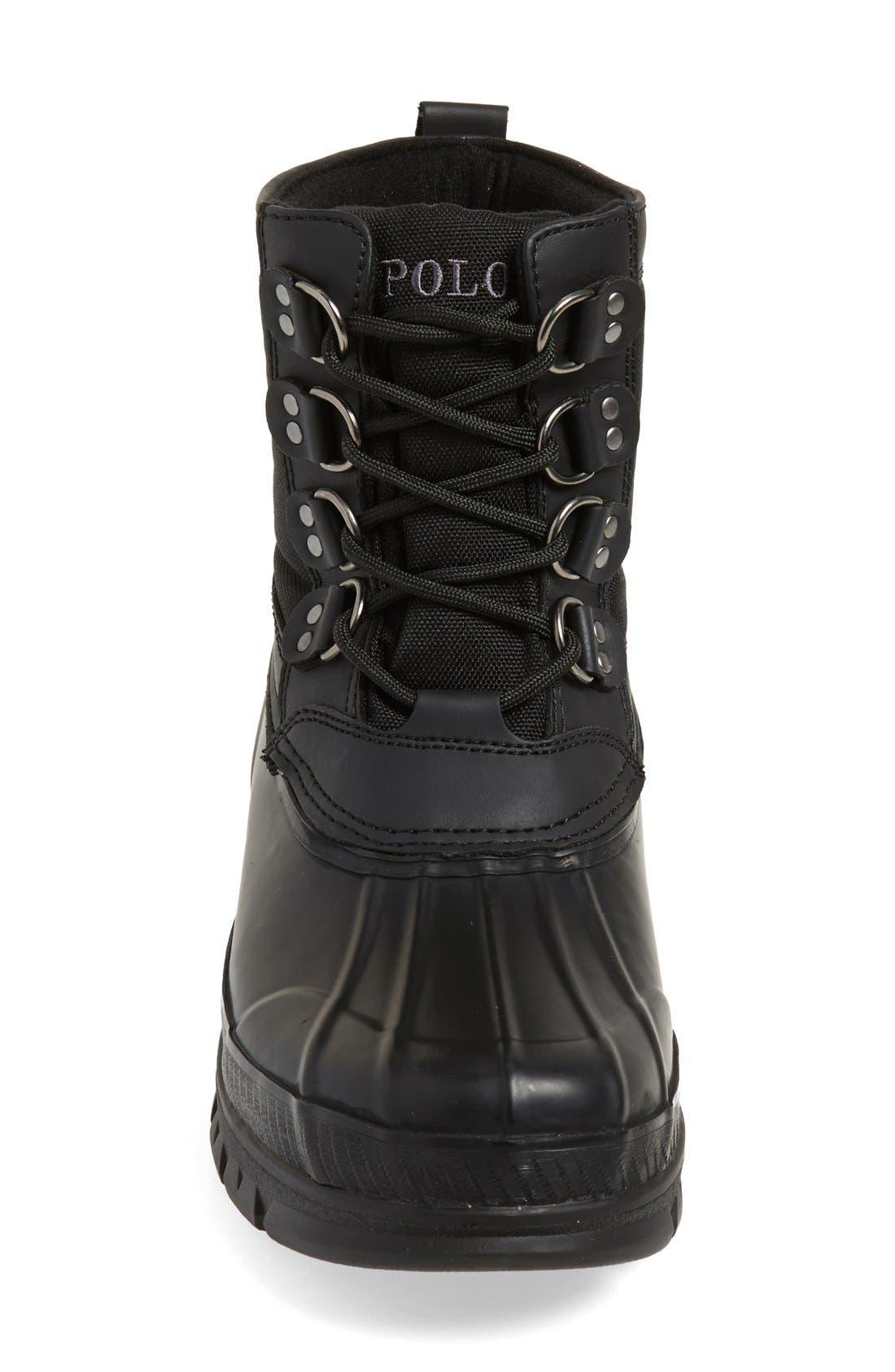 POLO RALPH LAUREN, 'Crestwick' Tall Boot, Alternate thumbnail 4, color, 001