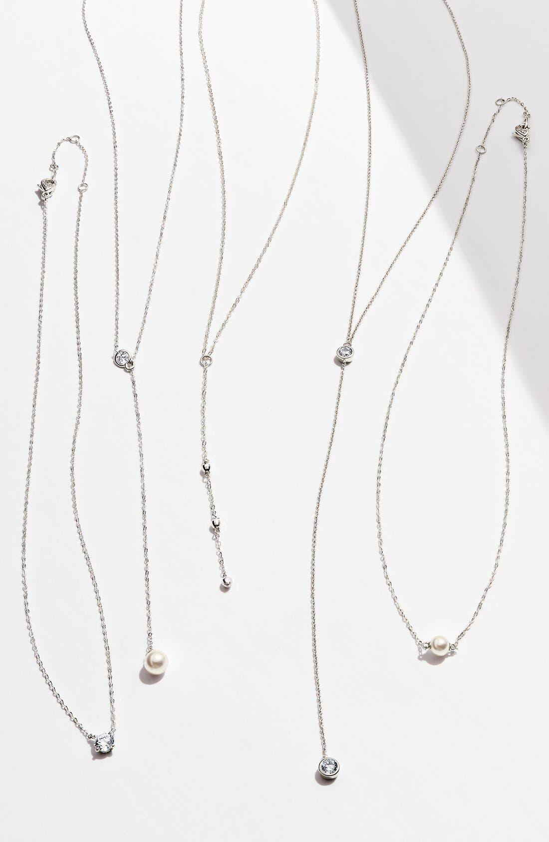 NADRI, Cubic Zirconia Pendant Necklace, Alternate thumbnail 6, color, 040