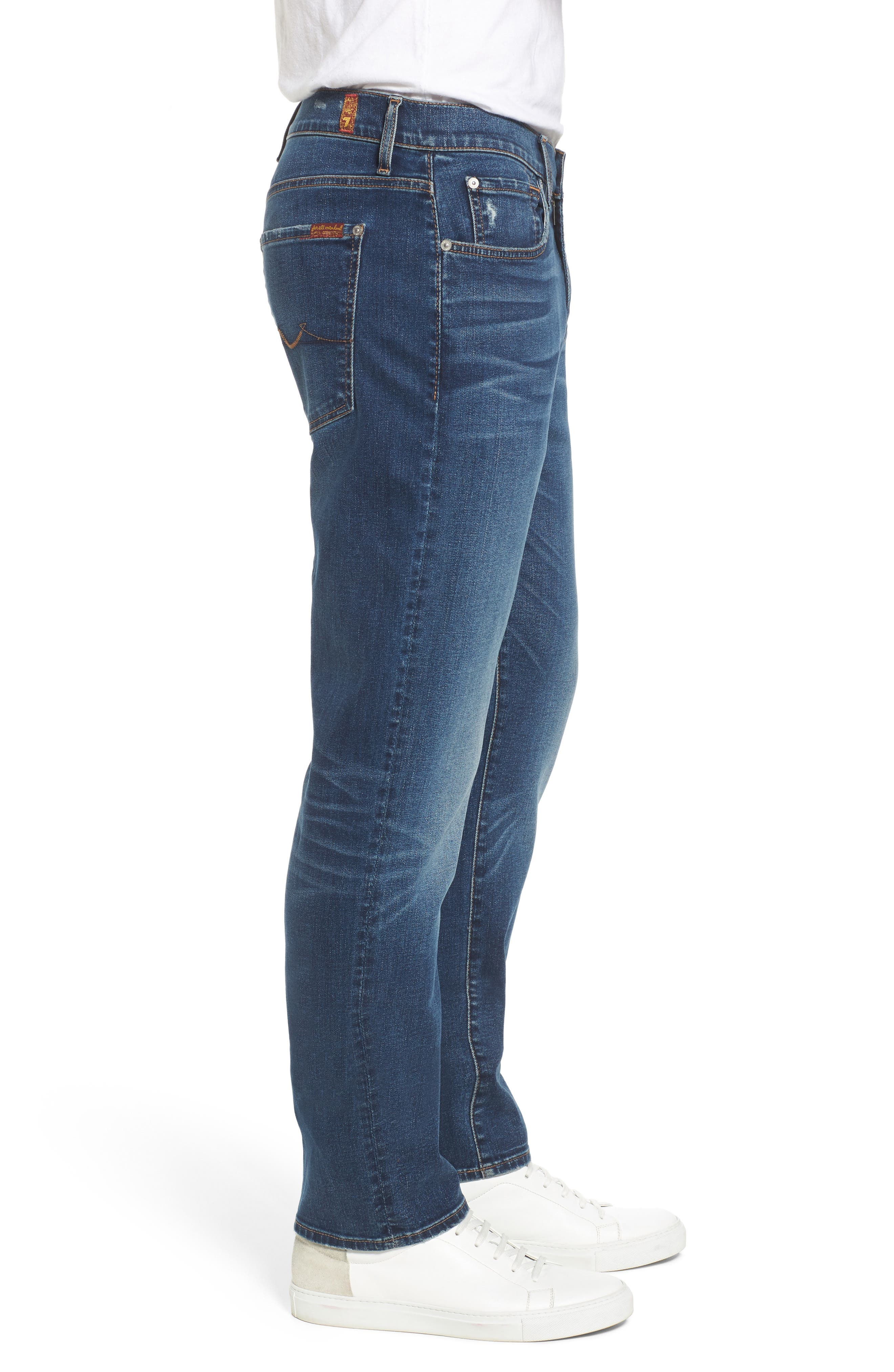 7 FOR ALL MANKIND<SUP>®</SUP>, The Straight - Luxe Performance Slim Straight Leg Jeans, Alternate thumbnail 3, color, LUXE PERFORMANCE UNION