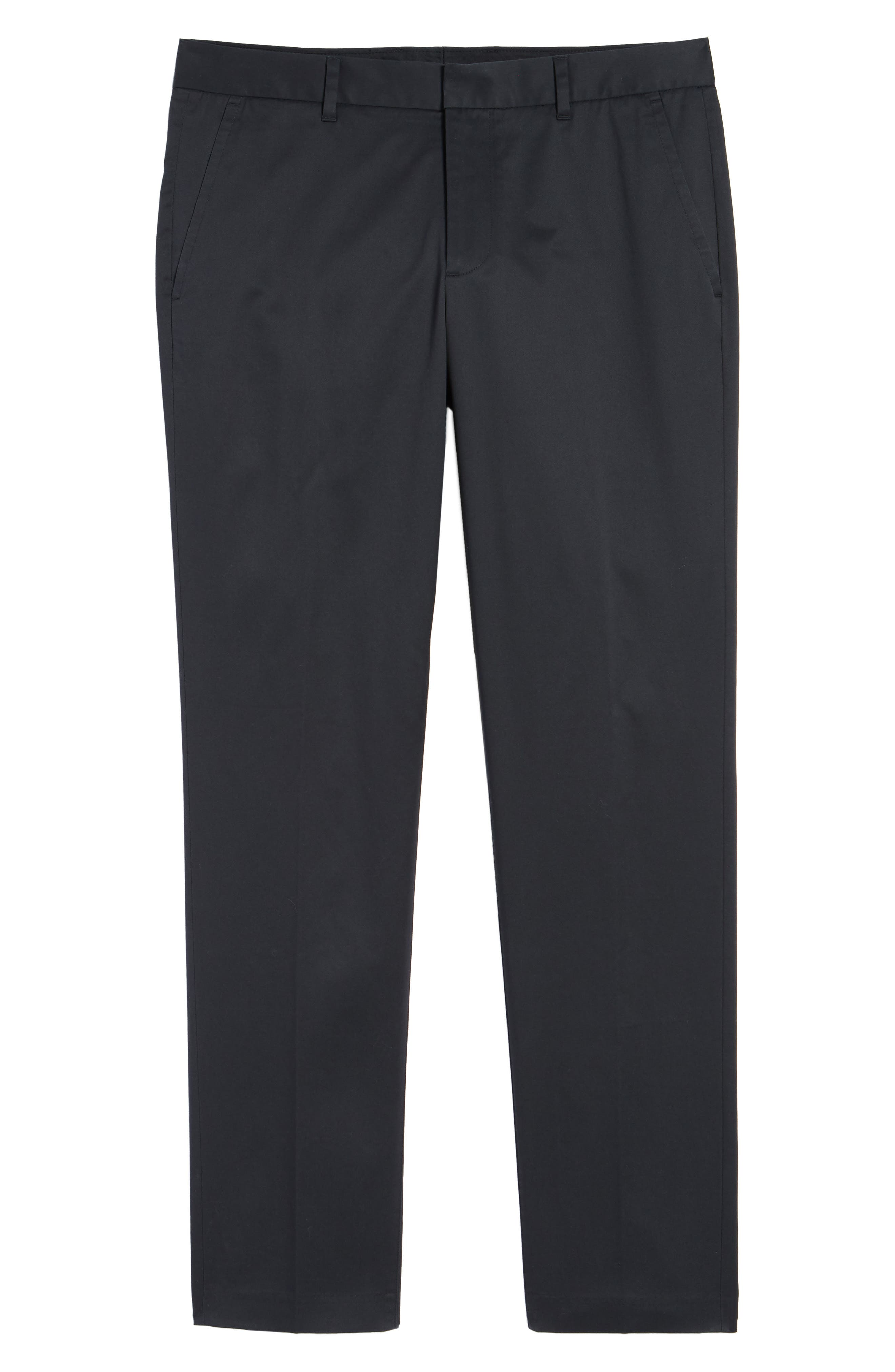 BONOBOS, Weekday Warrior Athletic Fit Stretch Dress Pants, Alternate thumbnail 6, color, TUESDAY BLACK