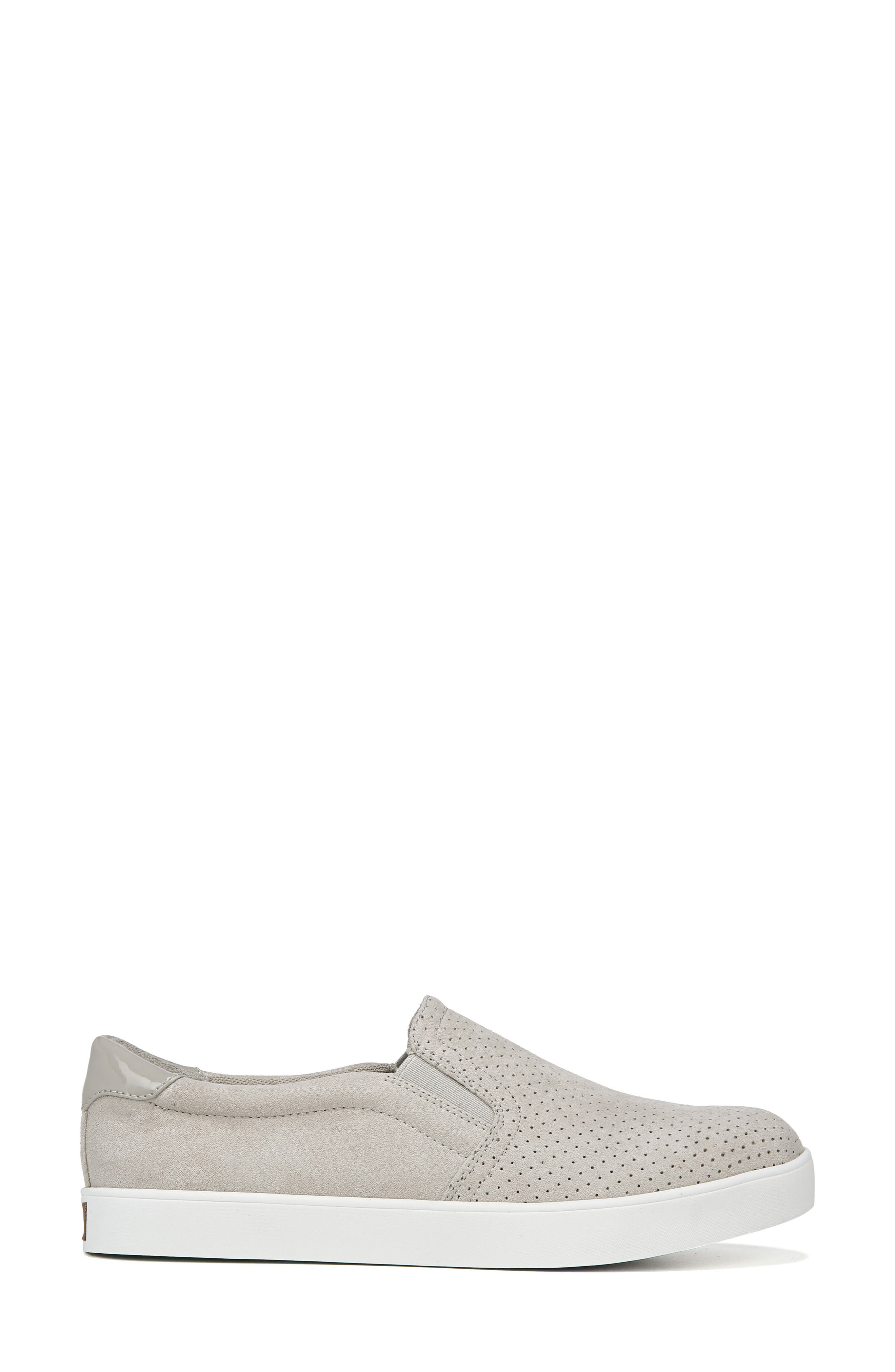 DR. SCHOLL'S, Madison Slip-On Sneaker, Alternate thumbnail 3, color, GREY PERFORATED FABRIC