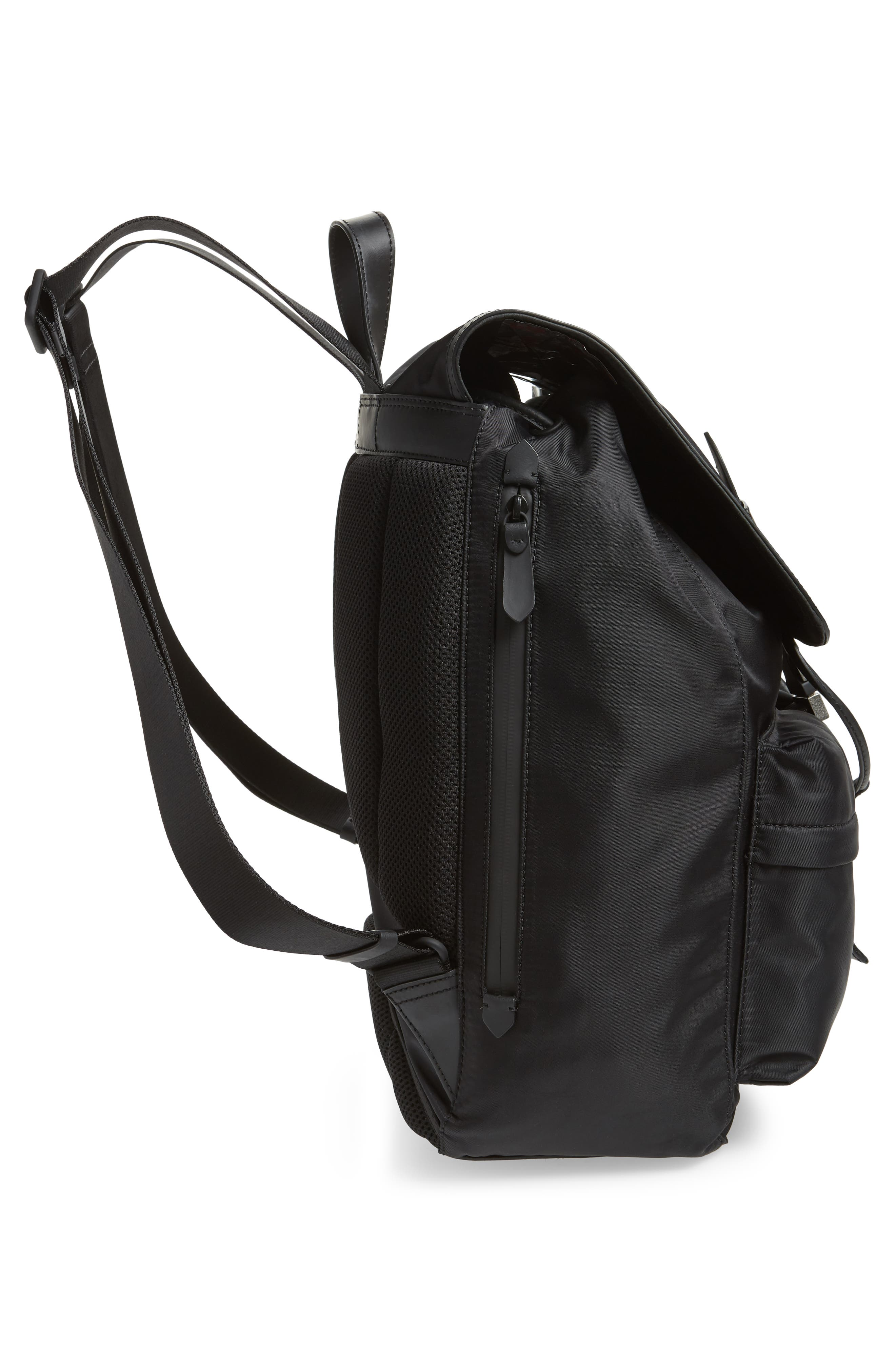 COLE HAAN, ZeroGrand Backpack, Alternate thumbnail 5, color, BLACK