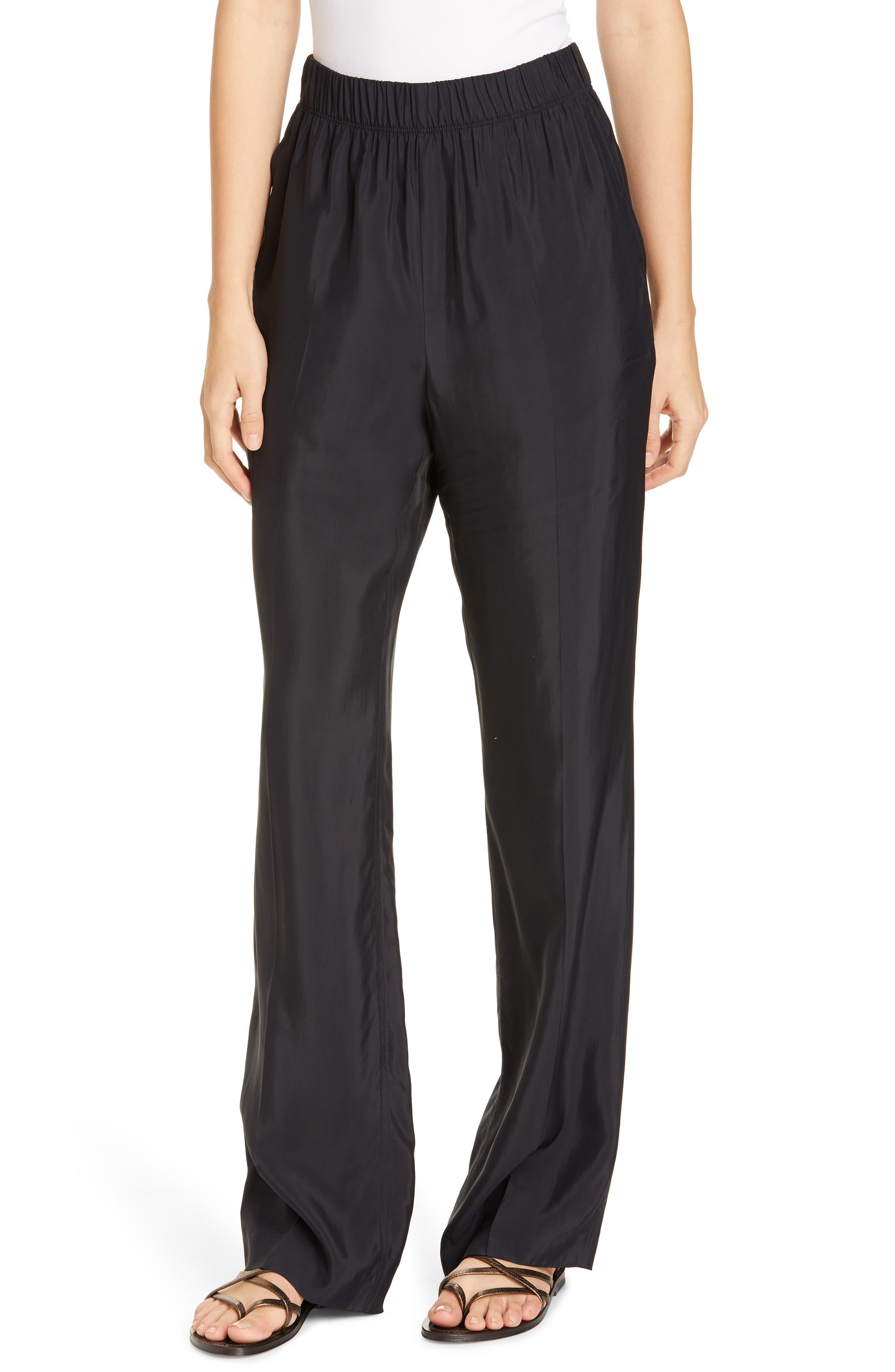HELMUT LANG Pull-On Pants, Main, color, BLACK