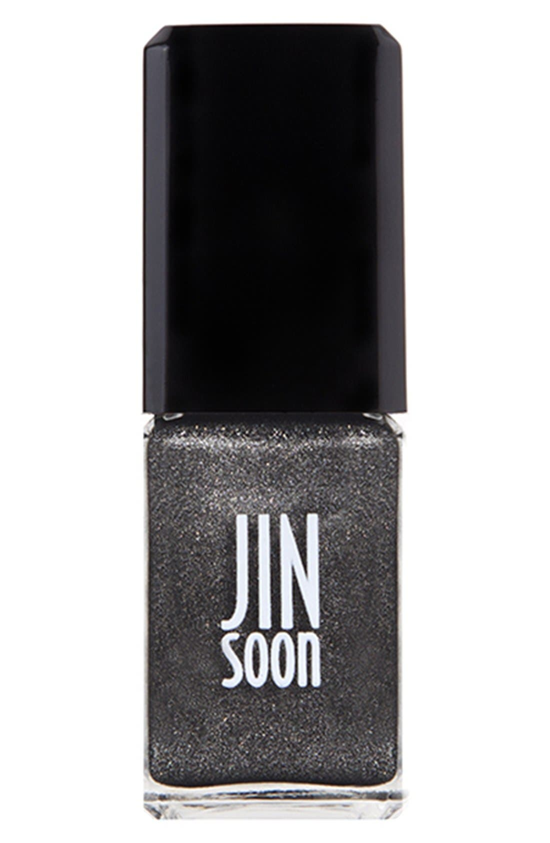 JINSOON, 'Mica' Nail Lacquer, Main thumbnail 1, color, 000