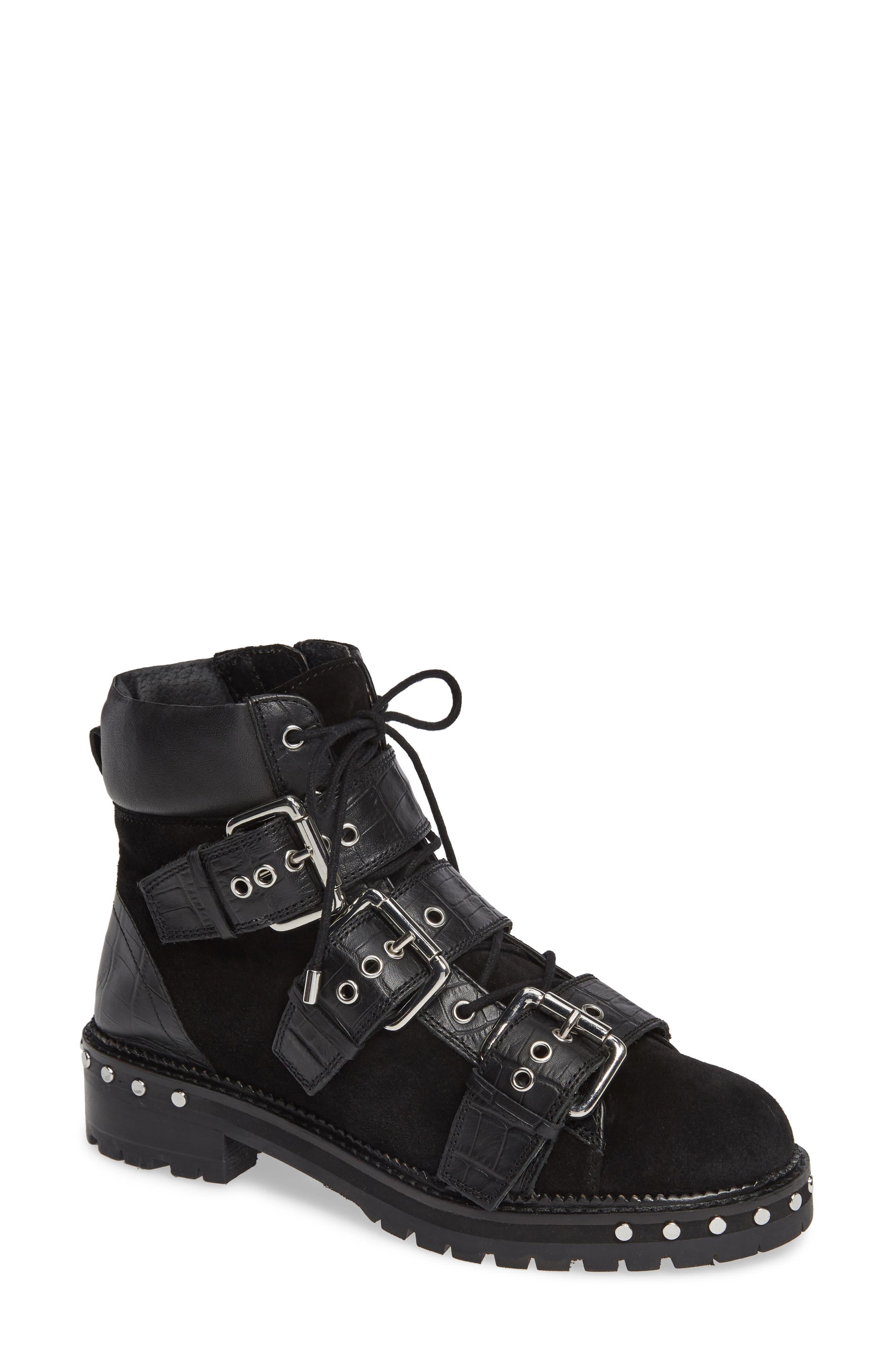 Topshop Animal Studded Boot- Black