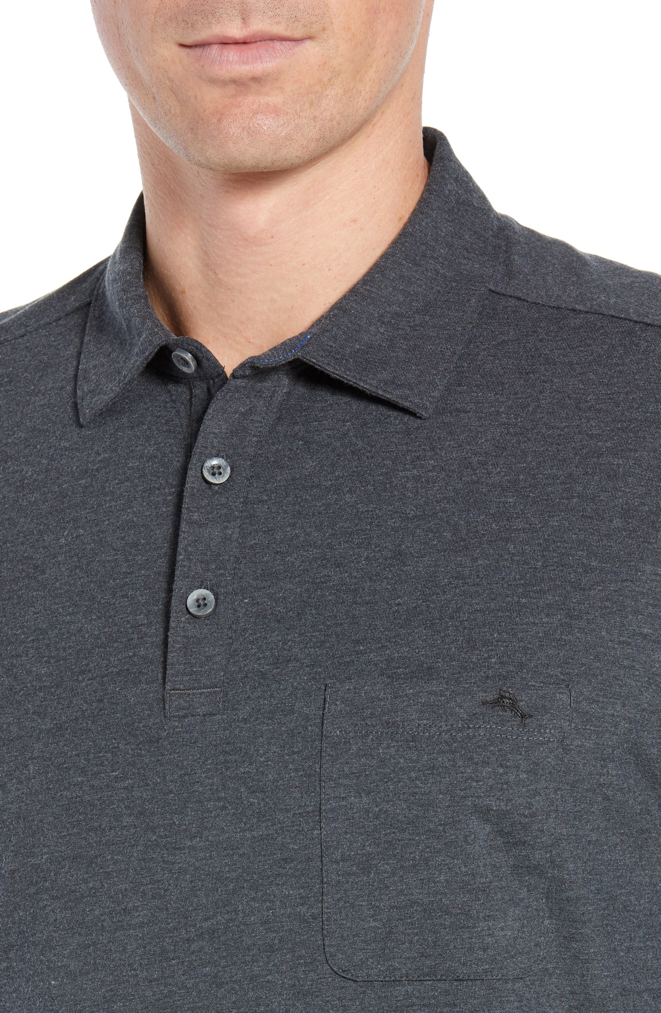 TOMMY BAHAMA, Tropicool Sueded Sands Regular Fit Polo, Alternate thumbnail 4, color, 050