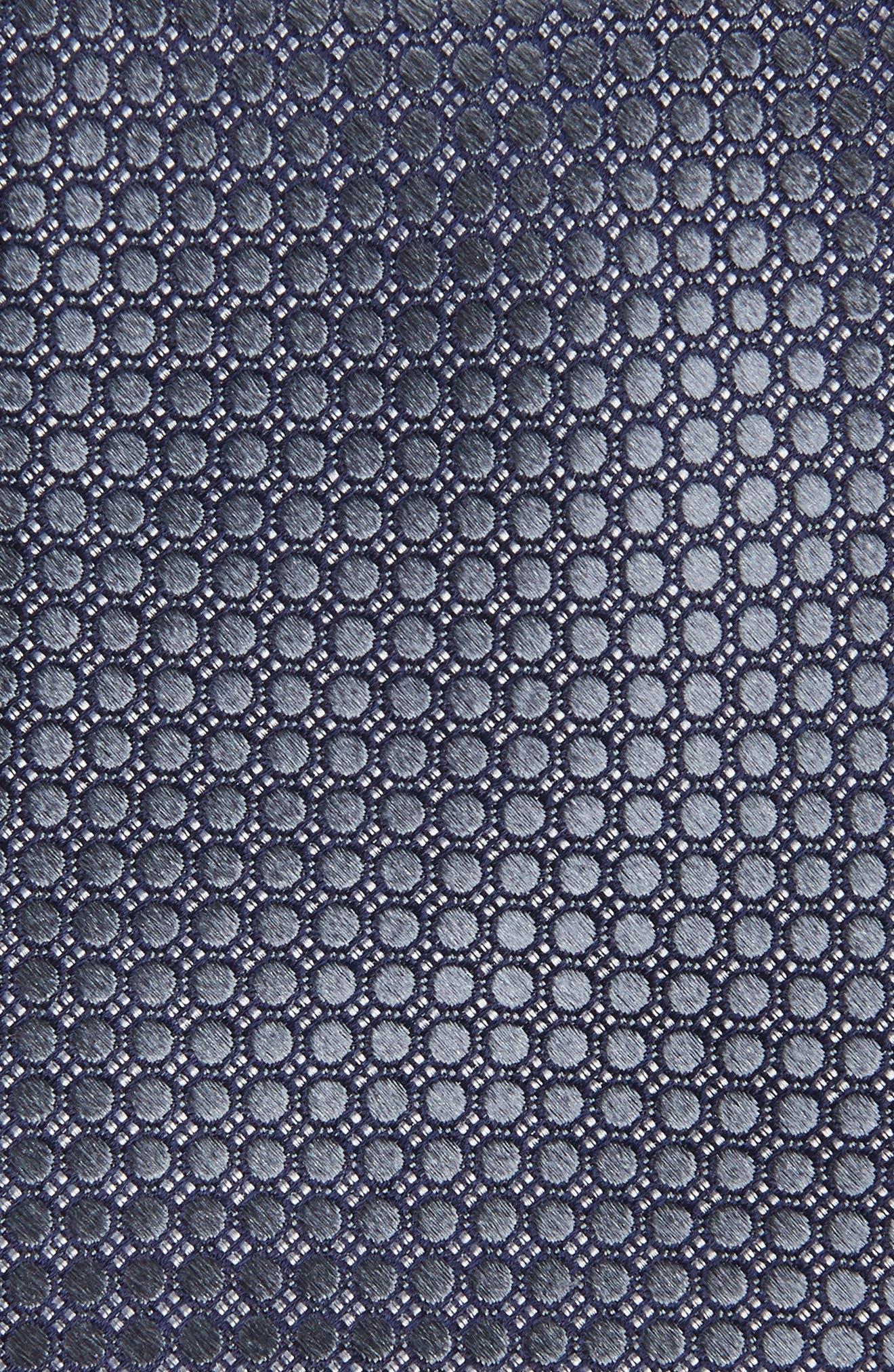 NORDSTROM MEN'S SHOP, Alana Geometric Silk Tie, Alternate thumbnail 2, color, BLACK/ GREY