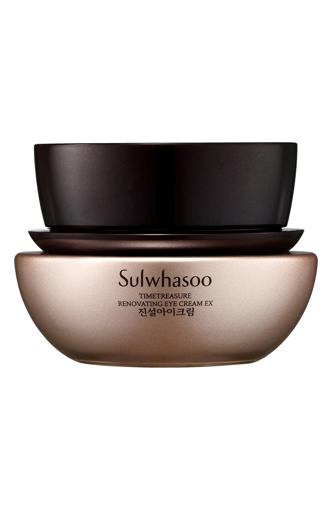 SULWHASOO, Timetreasure Renovating Eye Cream EX, Main thumbnail 1, color, NO COLOR