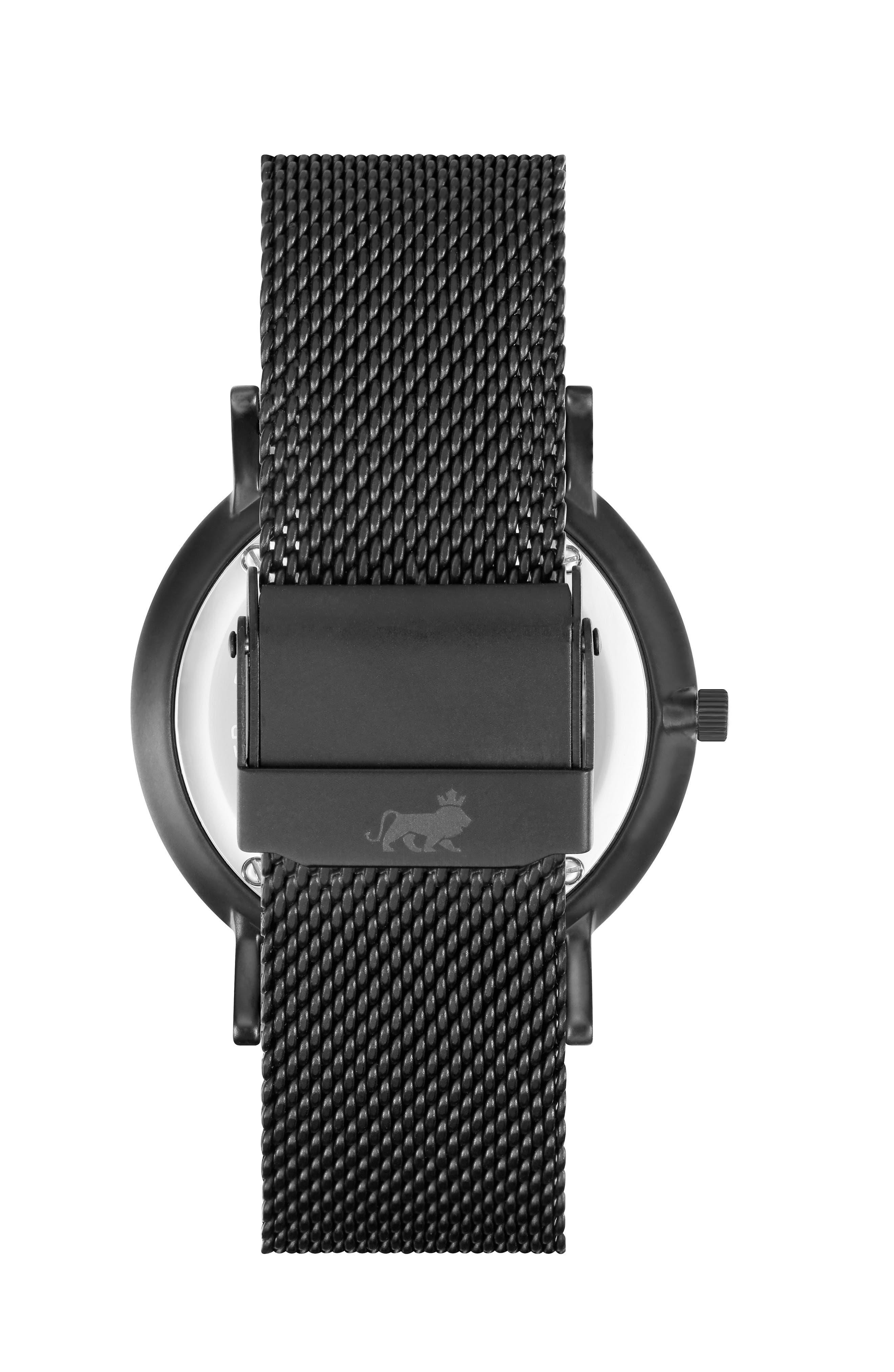 LARSSON & JENNINGS, Lugano Mesh Strap Watch, 38mm, Alternate thumbnail 2, color, 001
