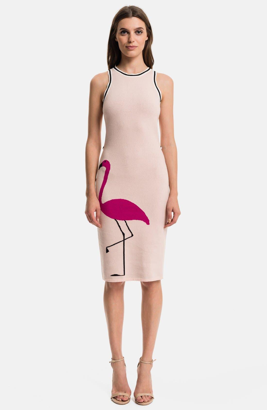 1.STATE Flamingo Body-Con Dress, Main, color, 636