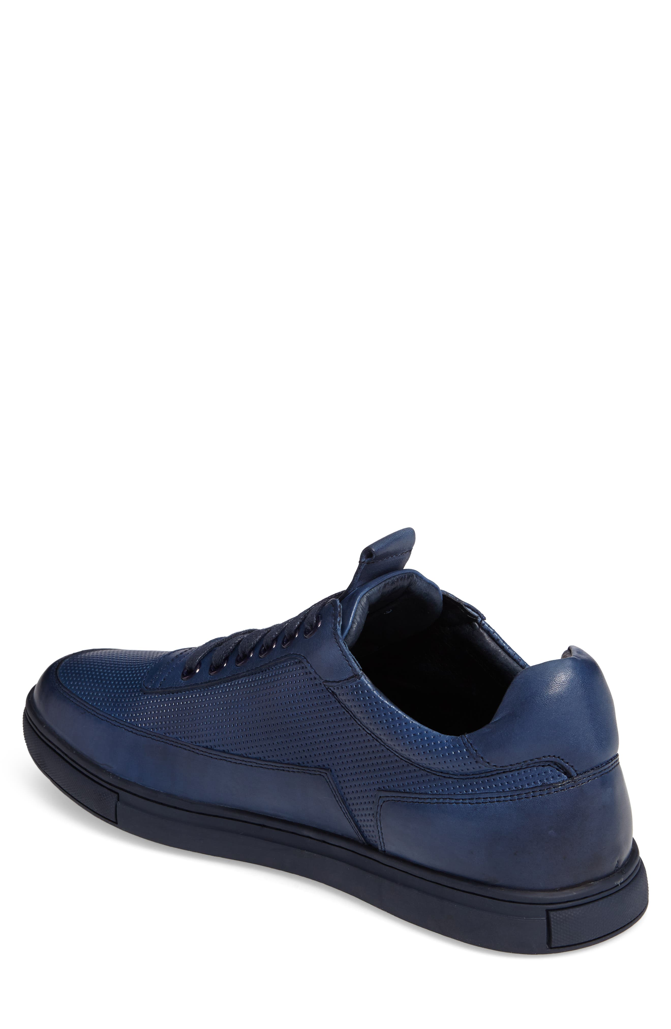 ZANZARA, Harmony Sneaker, Alternate thumbnail 2, color, BLUE LEATHER