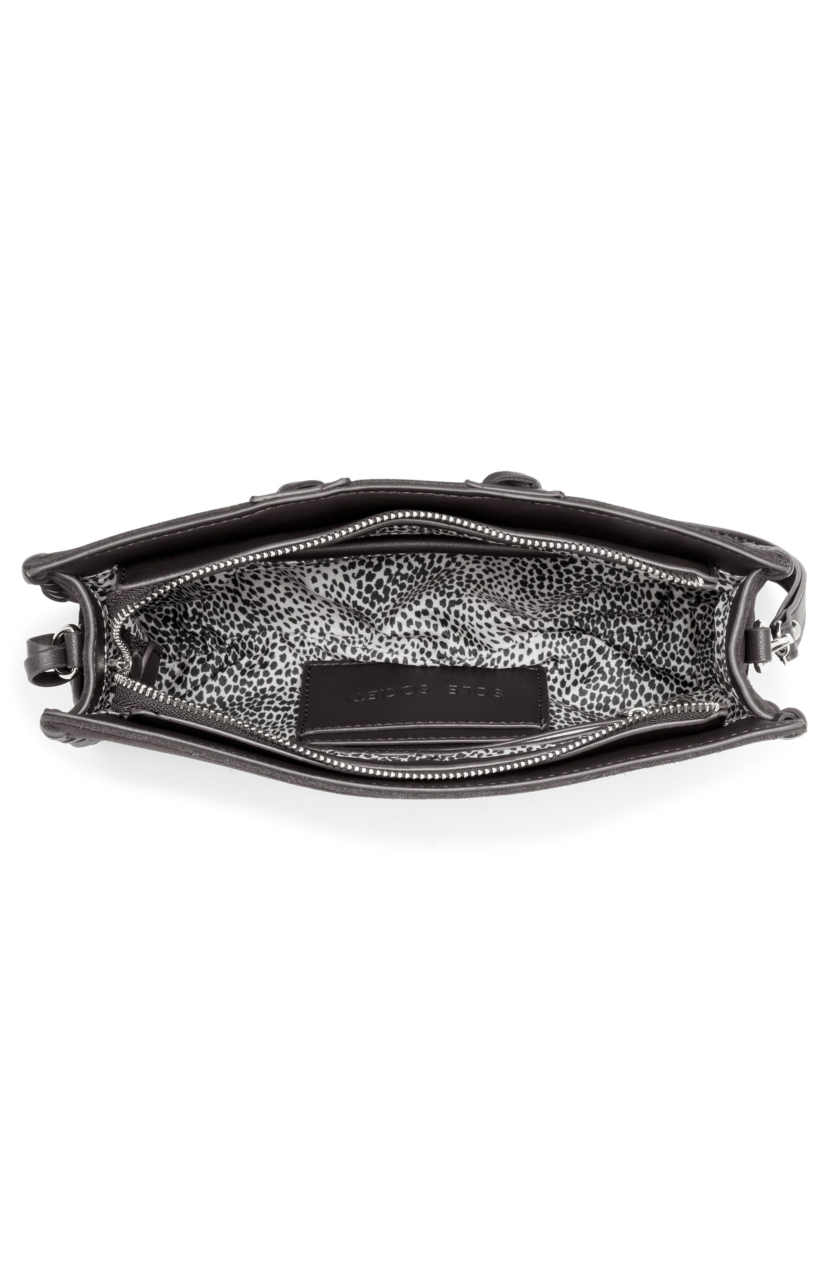 SOLE SOCIETY, Wahli Clutch, Alternate thumbnail 3, color, BLACK