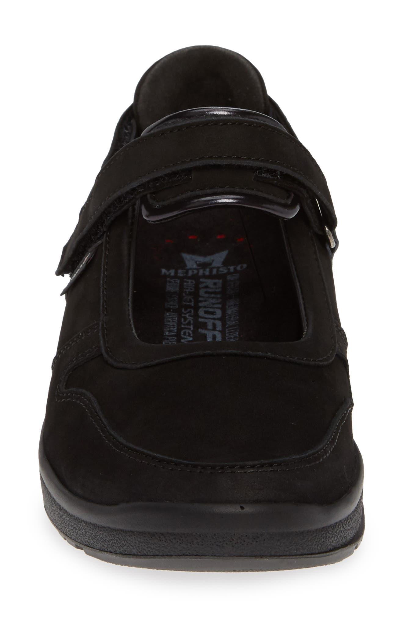 MEPHISTO, Rejine Sneaker, Alternate thumbnail 4, color, BLACK FABRIC