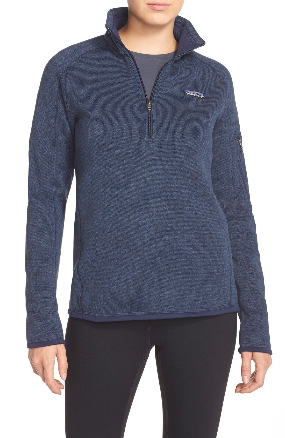 PATAGONIA Better Sweater Zip Pullover, Main, color, CLASSIC NAVY