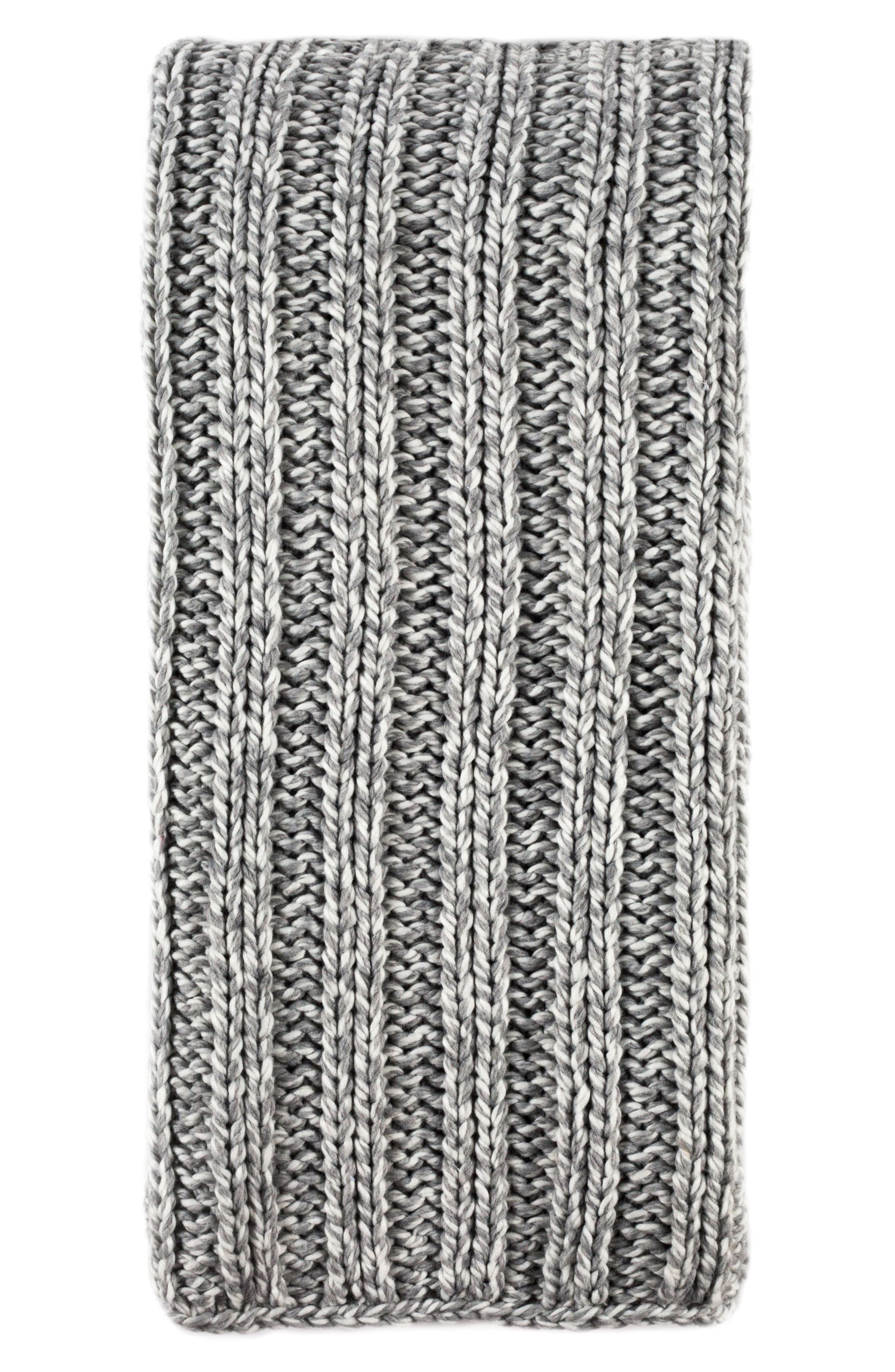 POM POM AT HOME, Sven Oversize Throw Blanket, Main thumbnail 1, color, GREY