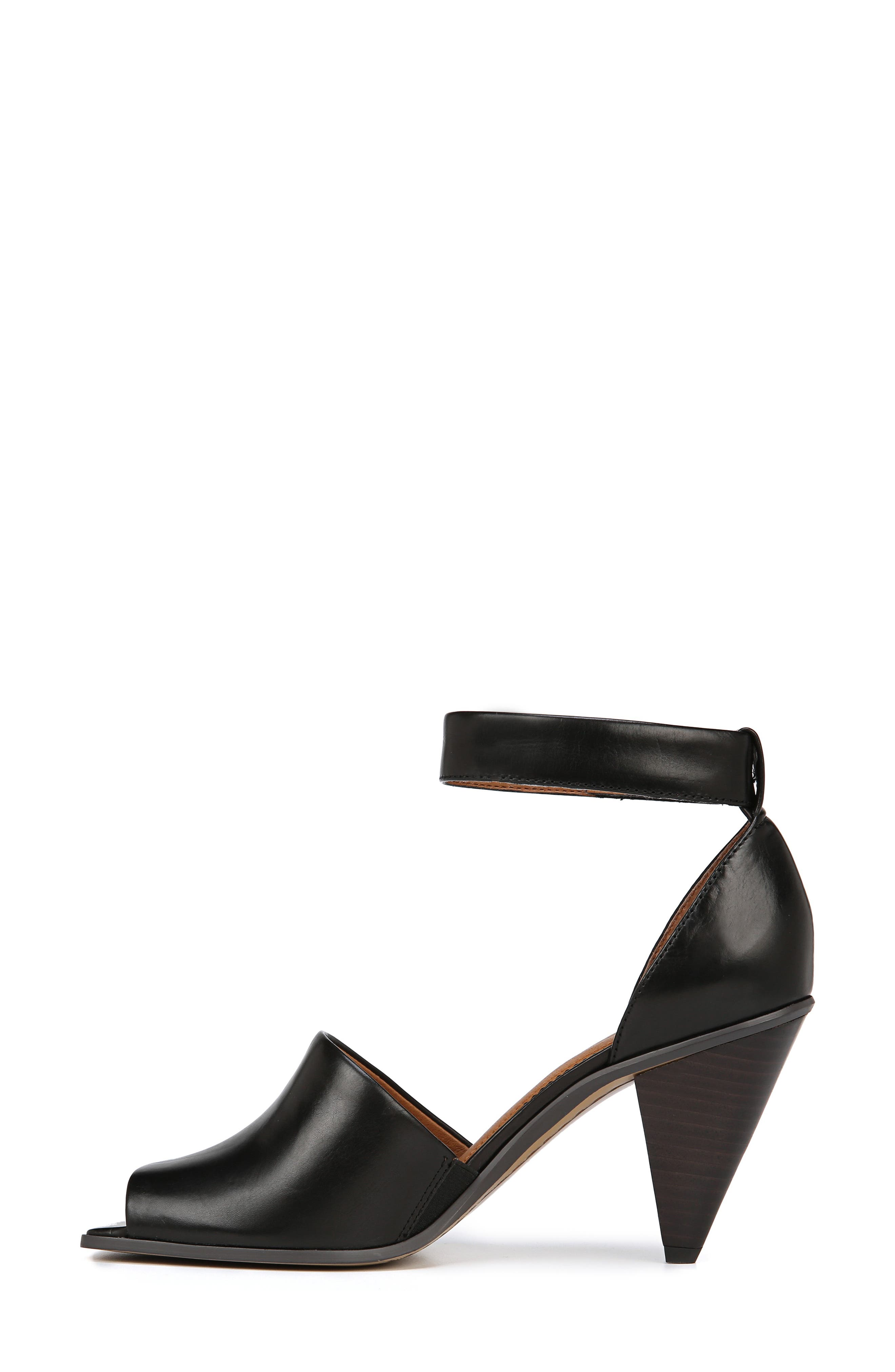 SARTO BY FRANCO SARTO, Ankle Strap Sandal, Alternate thumbnail 9, color, BLACK FOULARD LEATHER