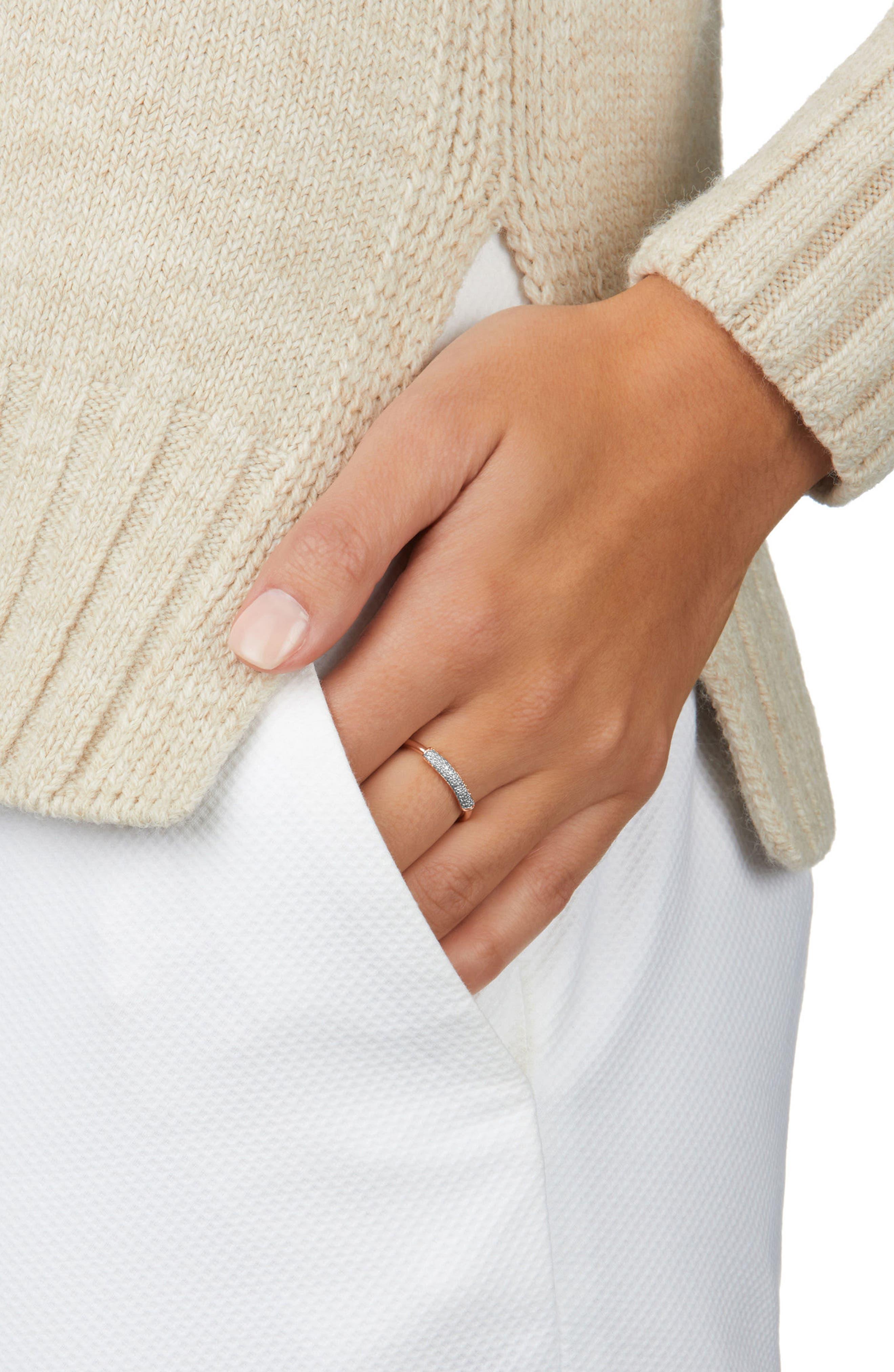MONICA VINADER, Stellar Diamond Band Ring, Alternate thumbnail 2, color, GOLD