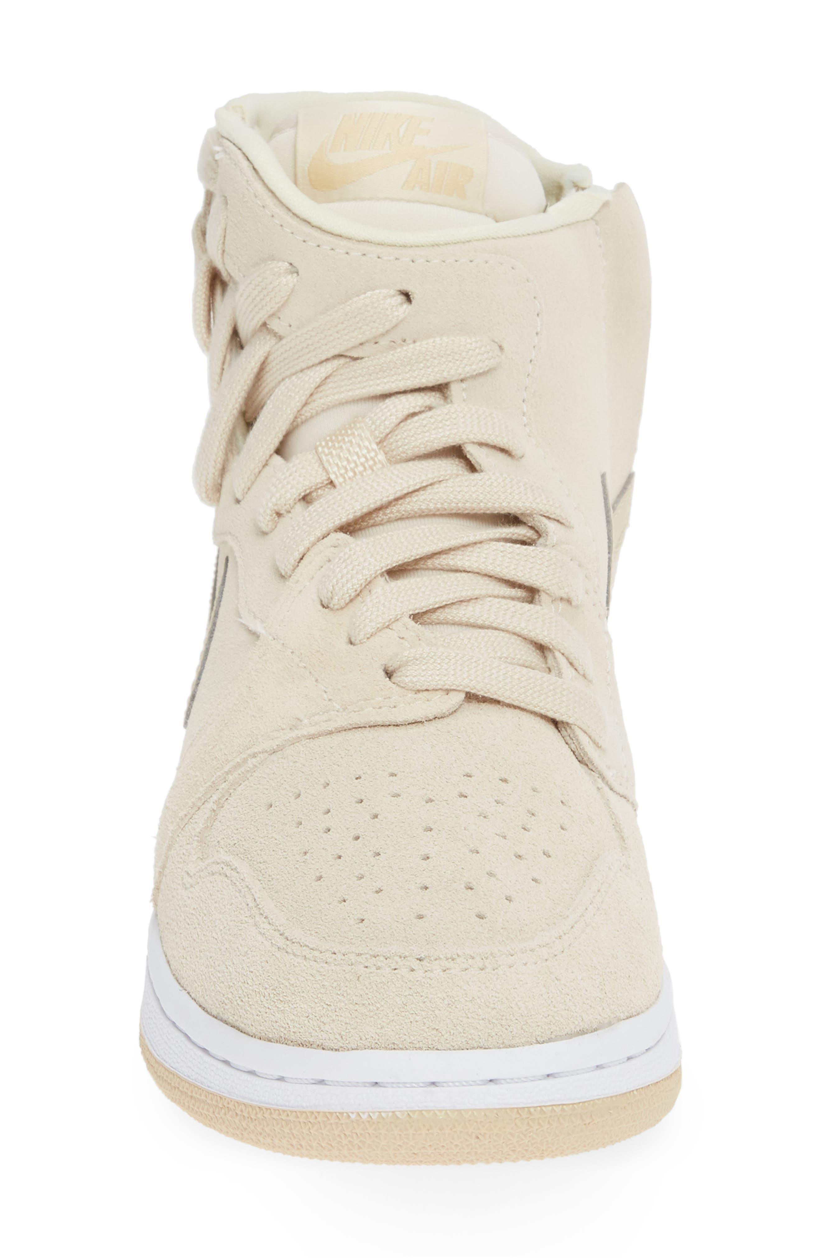 NIKE, Air Jordan 1 Rebel XX High Top Sneaker, Alternate thumbnail 4, color, LIGHT CREAM/ DESERT ORE/ WHITE
