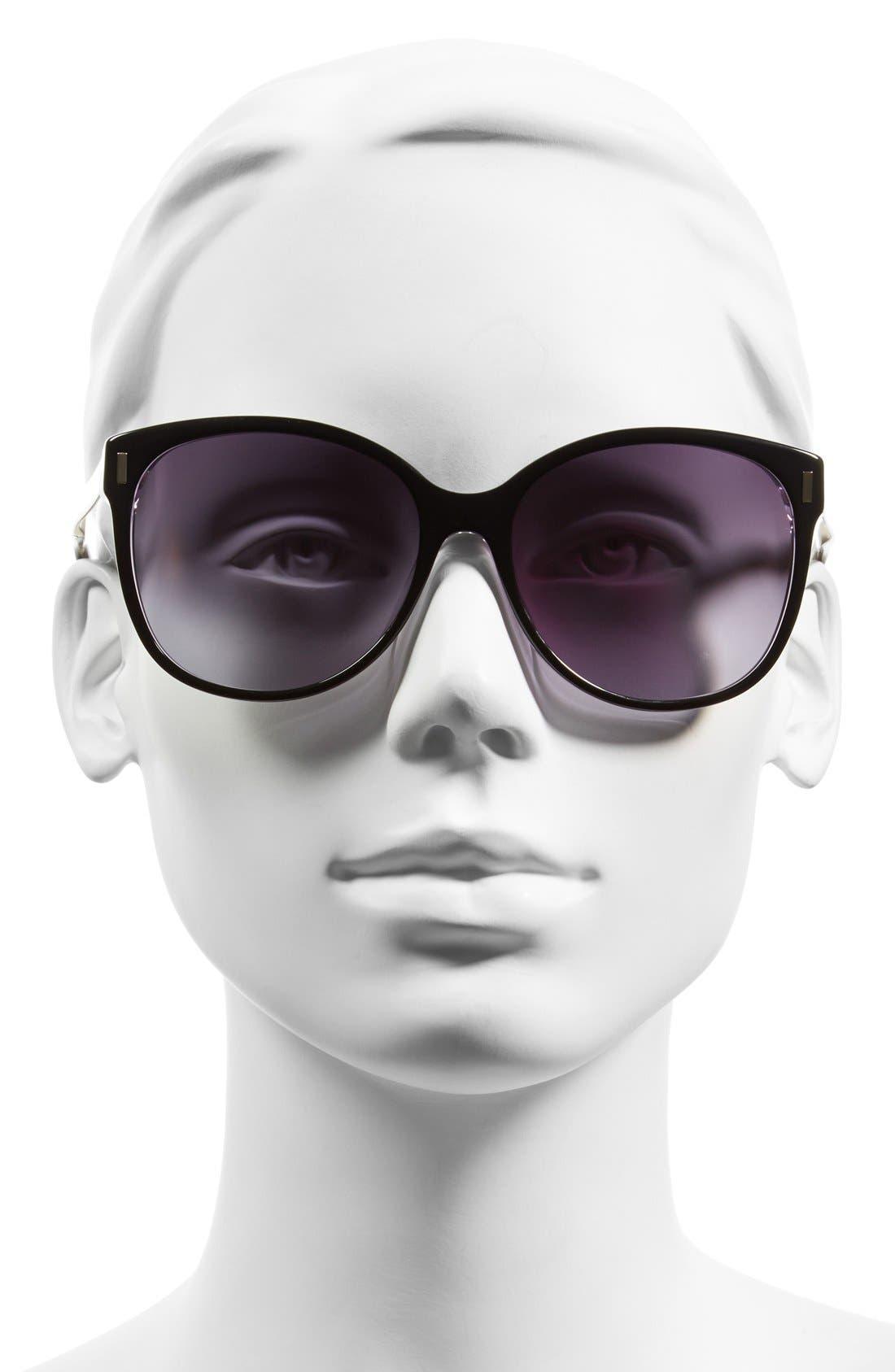MARC BY MARC JACOBS, 56mm Retro Sunglasses, Alternate thumbnail 2, color, 001