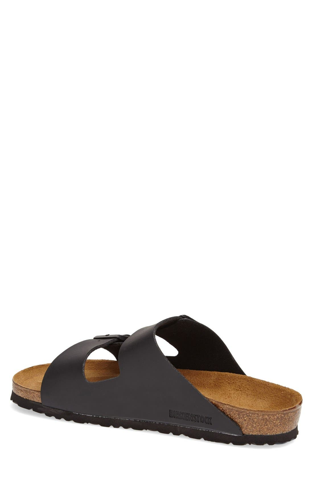 BIRKENSTOCK, 'Arizona' Slide Sandal, Alternate thumbnail 3, color, BLACK