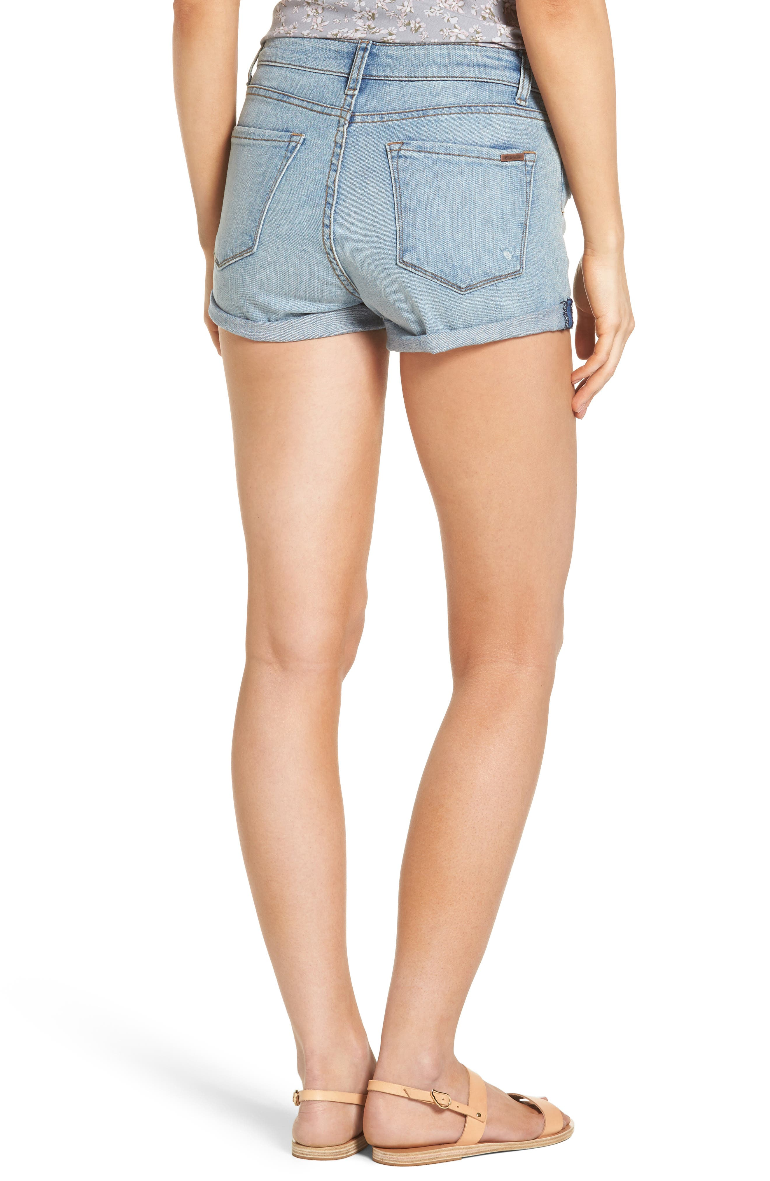 STS BLUE, Roll Cuff Denim Shorts, Alternate thumbnail 2, color, 400