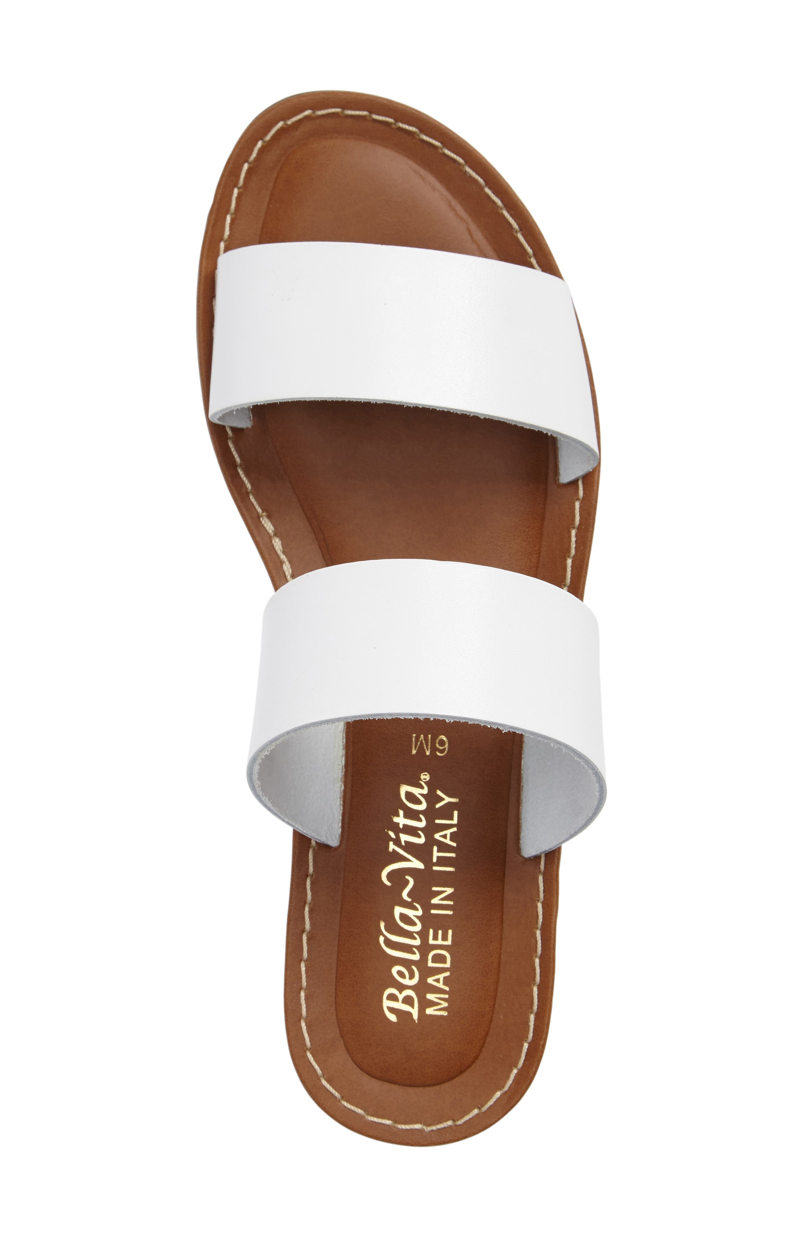 BELLA VITA, Imo Slide Sandal, Alternate thumbnail 3, color, WHITE LEATHER