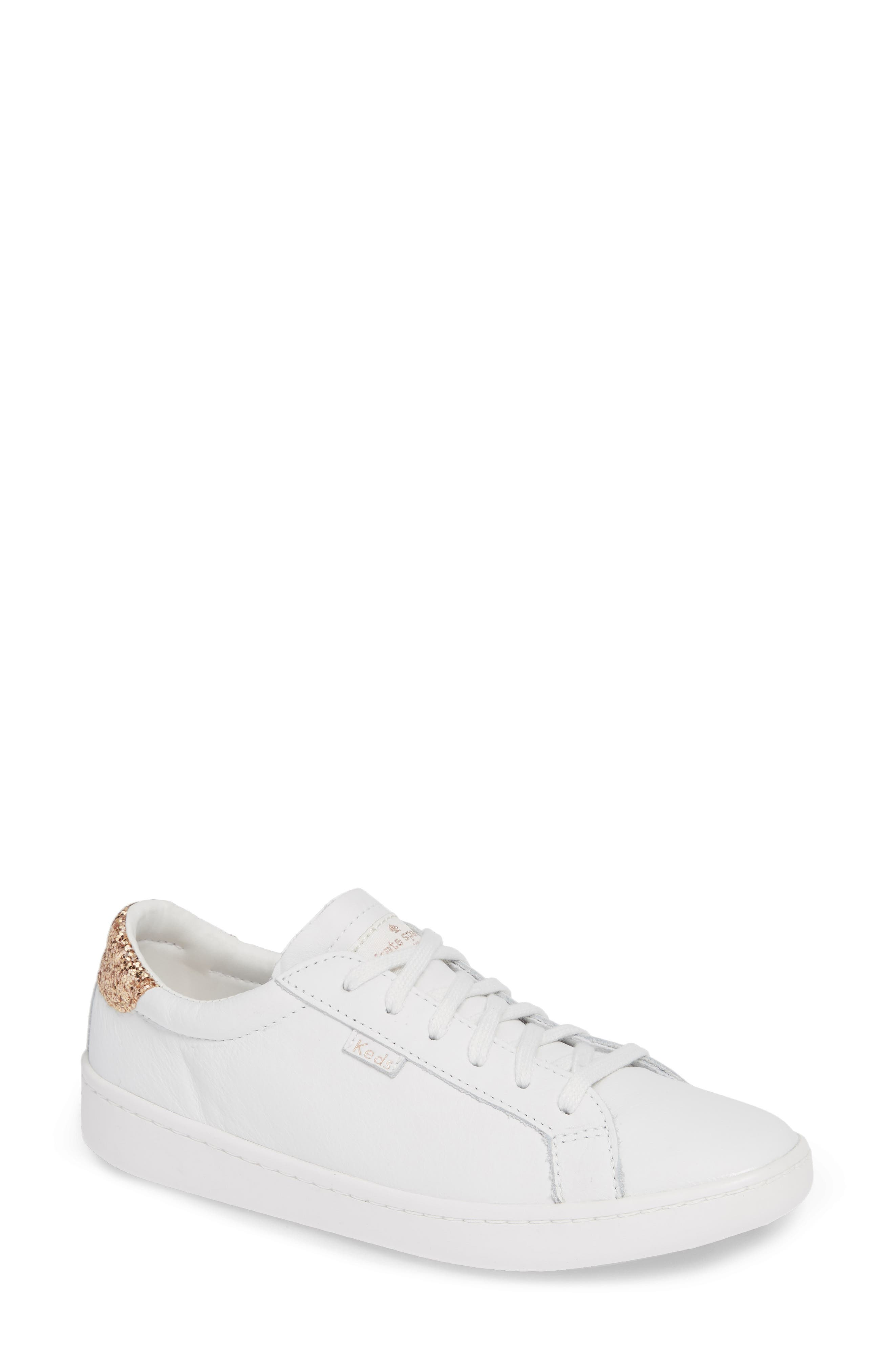 KEDS<SUP>®</SUP> FOR KATE SPADE NEW YORK, ace glitter sneaker, Main thumbnail 1, color, 100